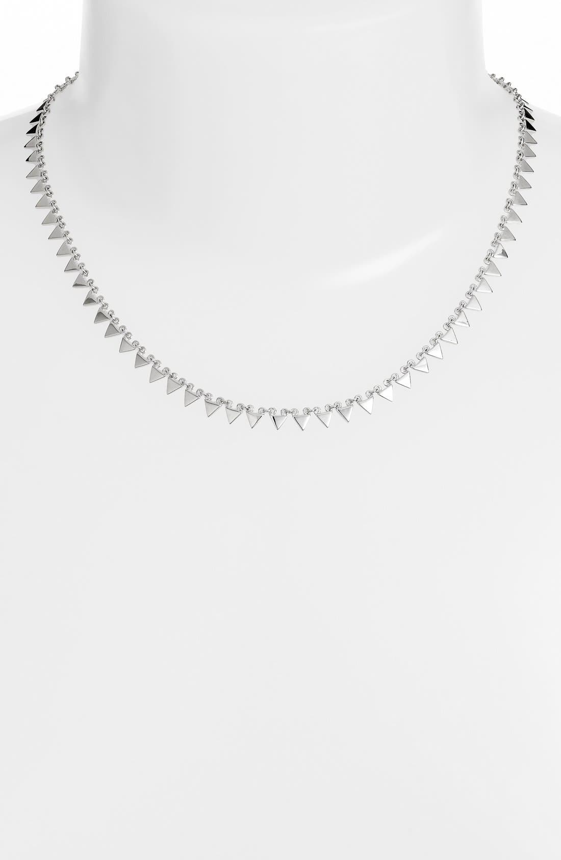 Triangle Collar Necklace,                             Main thumbnail 1, color,