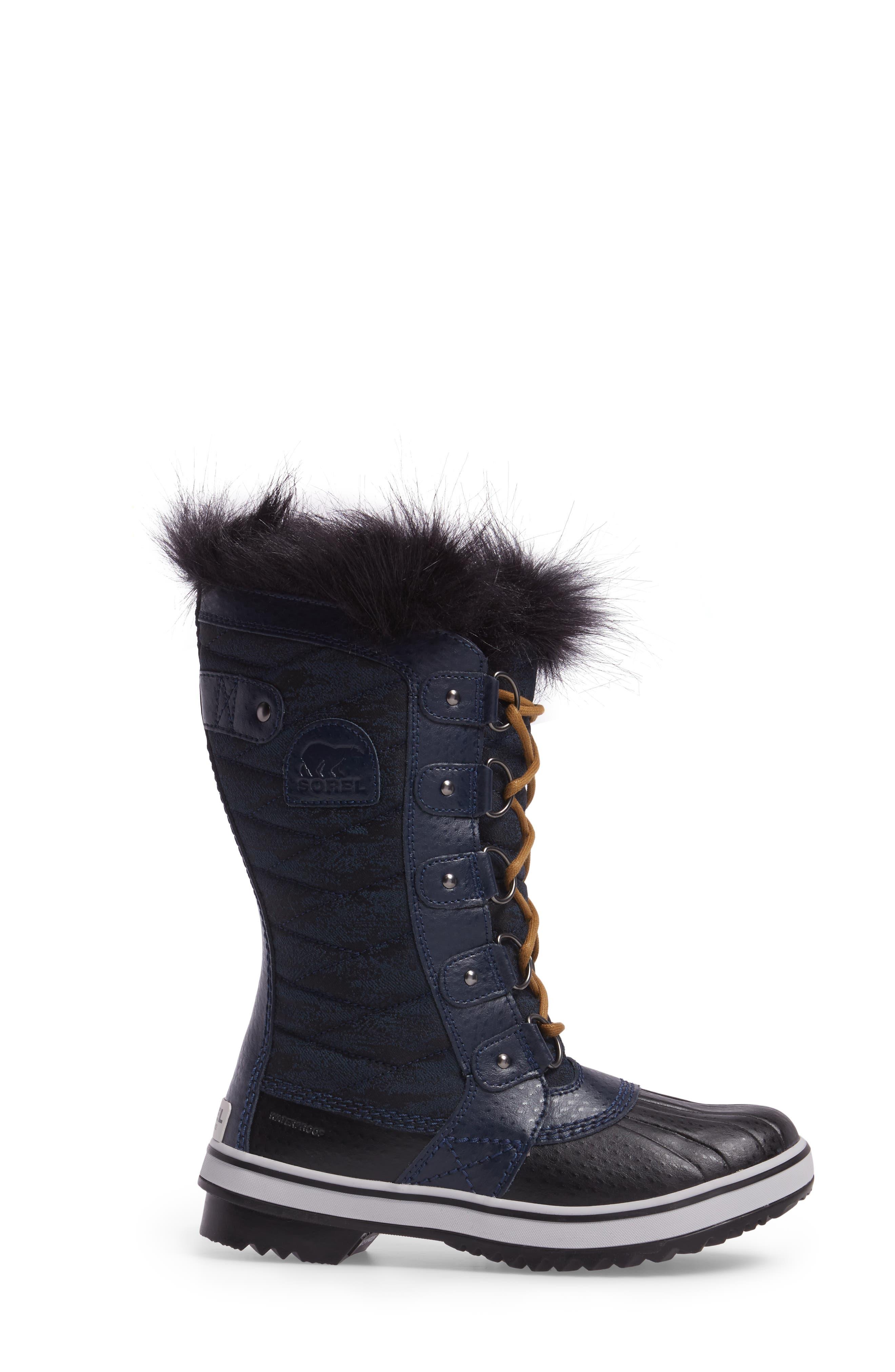 Tofino II Fleece Lined Waterproof Boot,                             Alternate thumbnail 3, color,