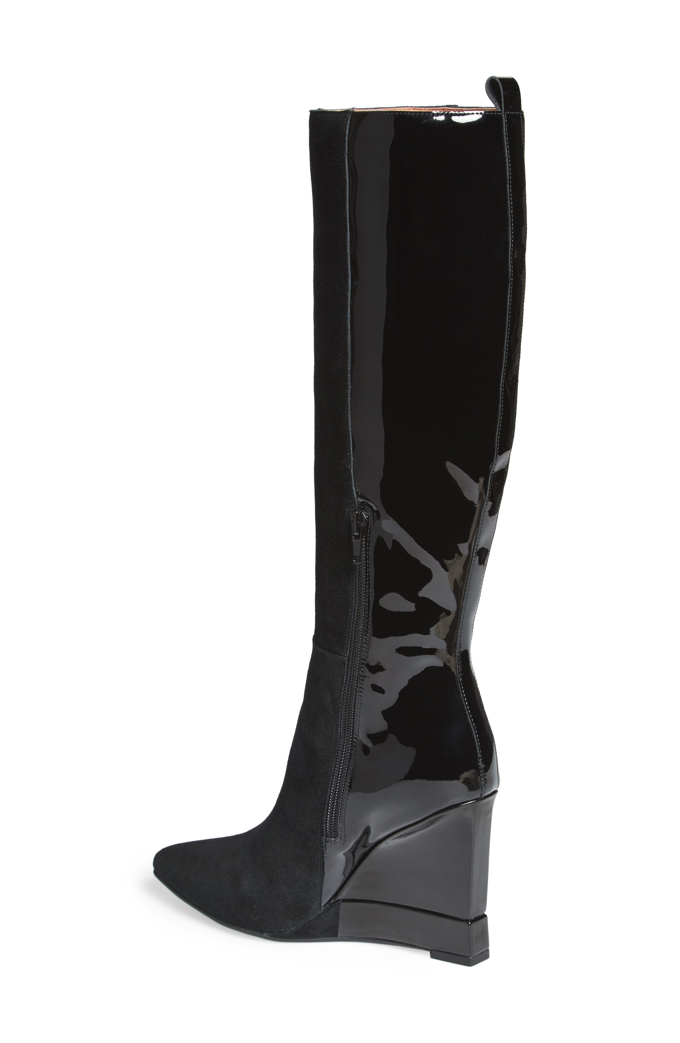 Rosalva Knee High Wedge Boot,                             Alternate thumbnail 2, color,