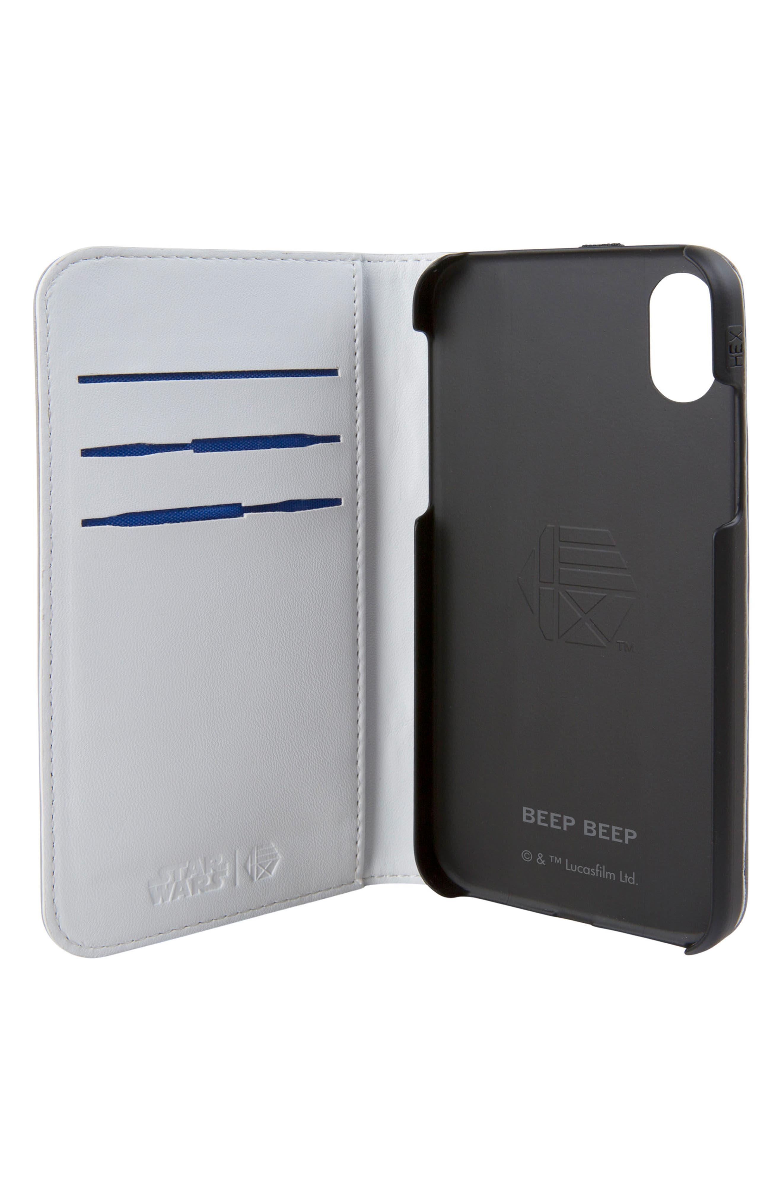 R2-D2 iPhone X Wallet Case,                             Alternate thumbnail 2, color,                             036