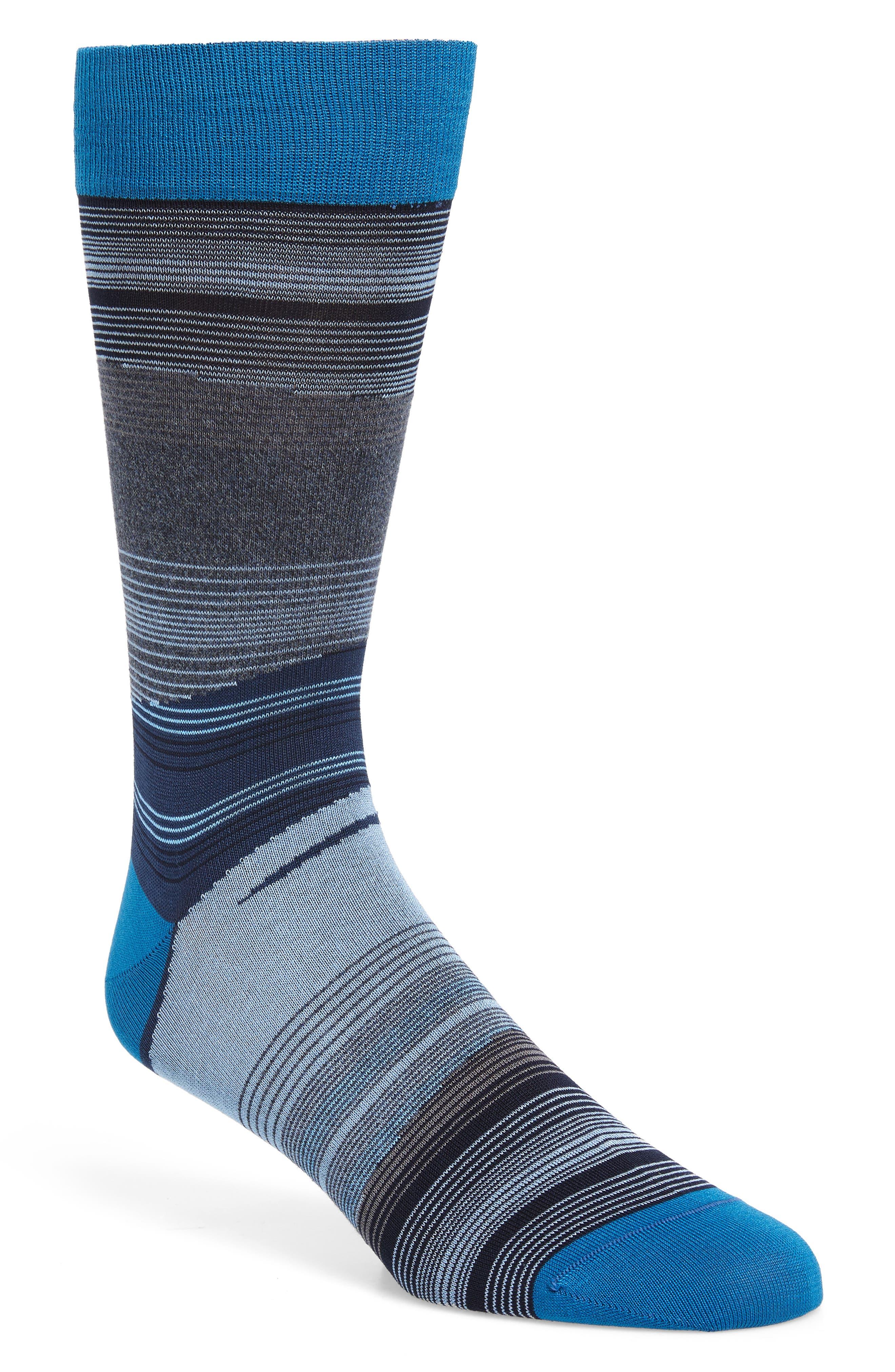 Stripe Socks,                         Main,                         color, COLBALT