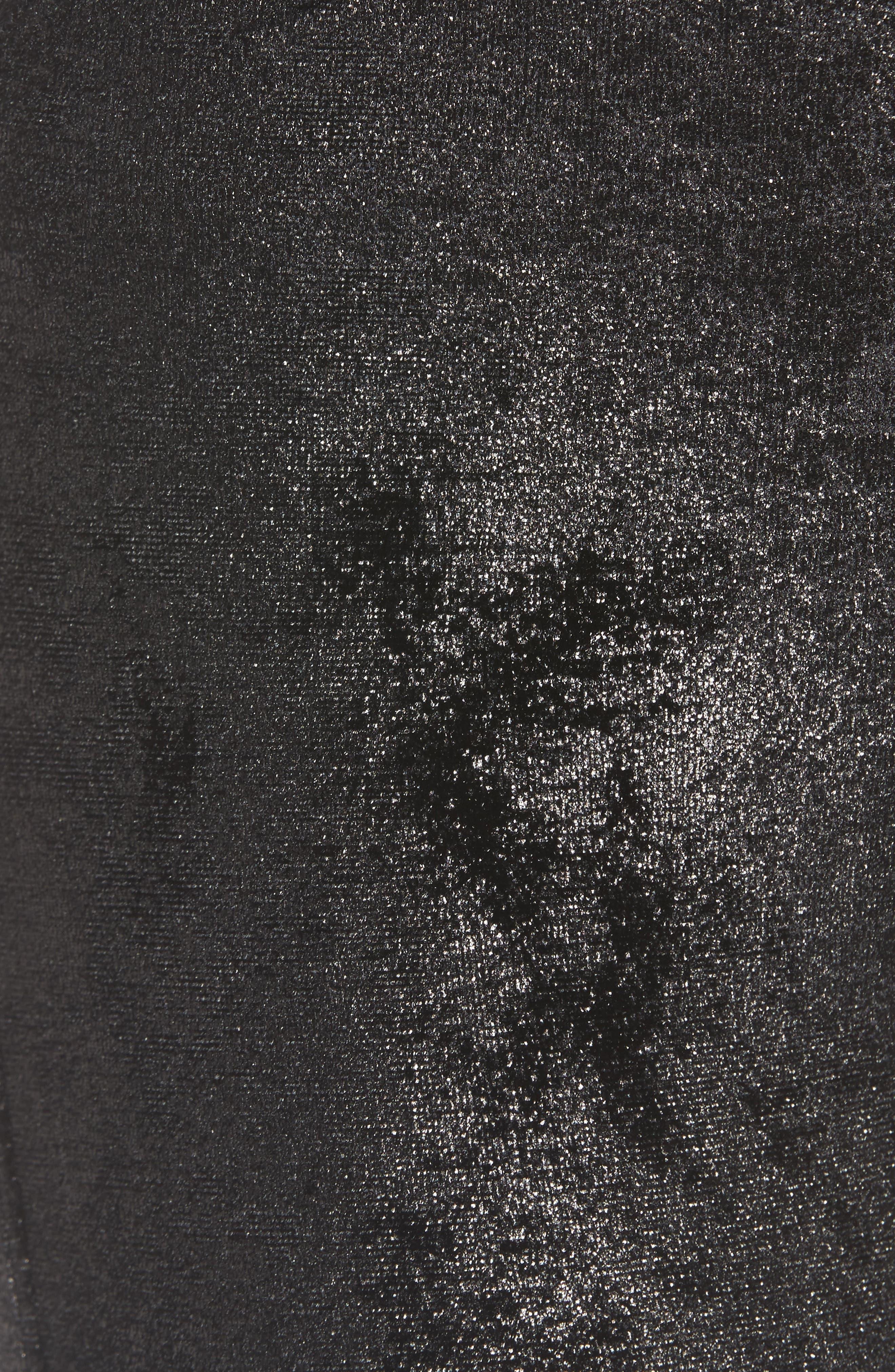 Bergen High Waist Seamed Leggings,                             Alternate thumbnail 5, color,                             001