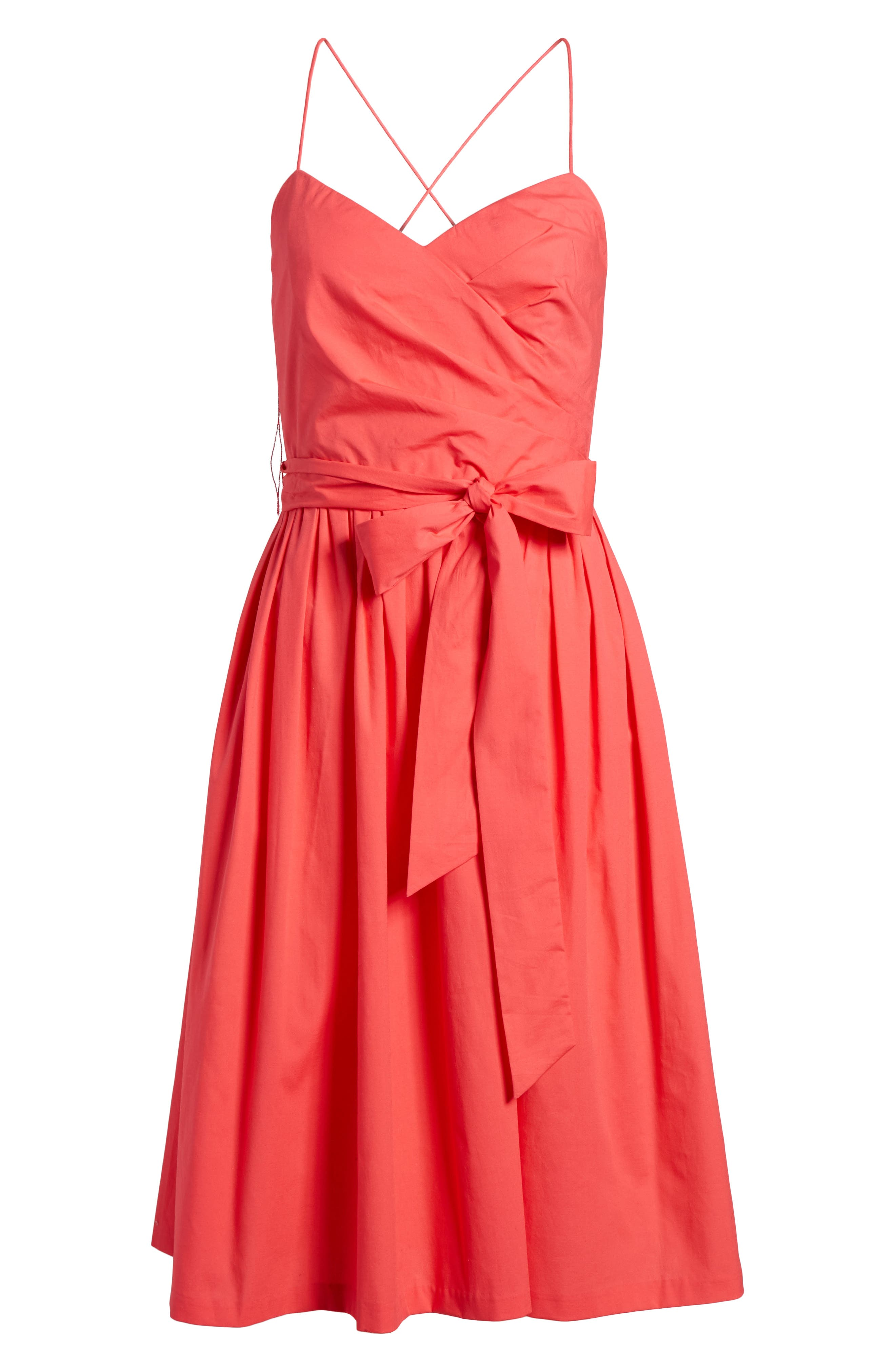 Strappy Fit & Flare Midi Dress,                             Alternate thumbnail 12, color,