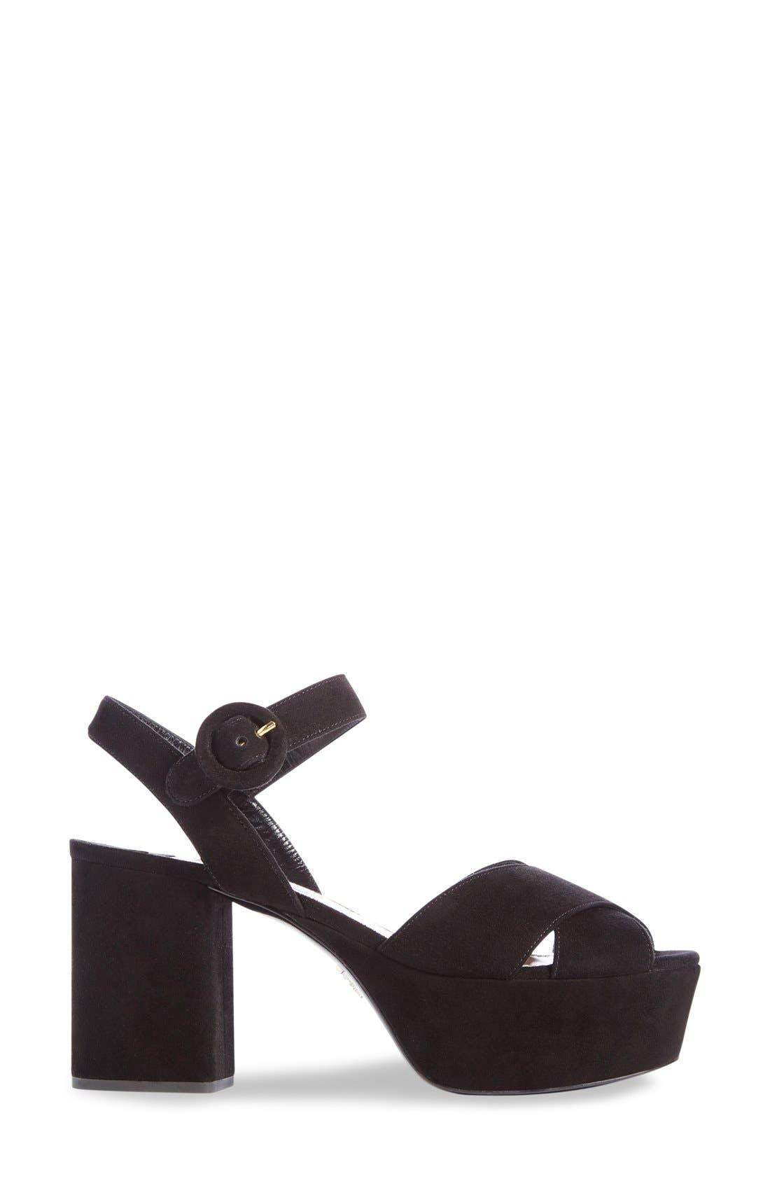 Strappy Platform Sandal,                             Alternate thumbnail 3, color,                             001