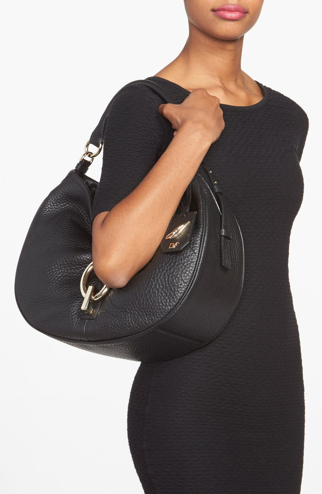 'Sutra' Leather Hobo,                             Alternate thumbnail 2, color,                             001