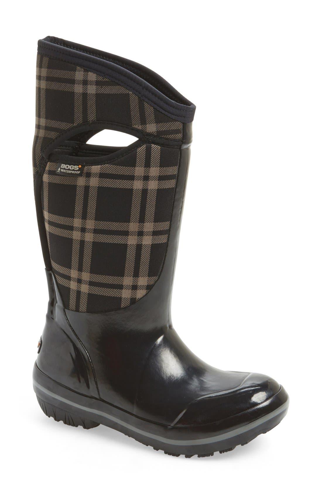 'Plimsoll' Waterproof Boot,                         Main,                         color, 001