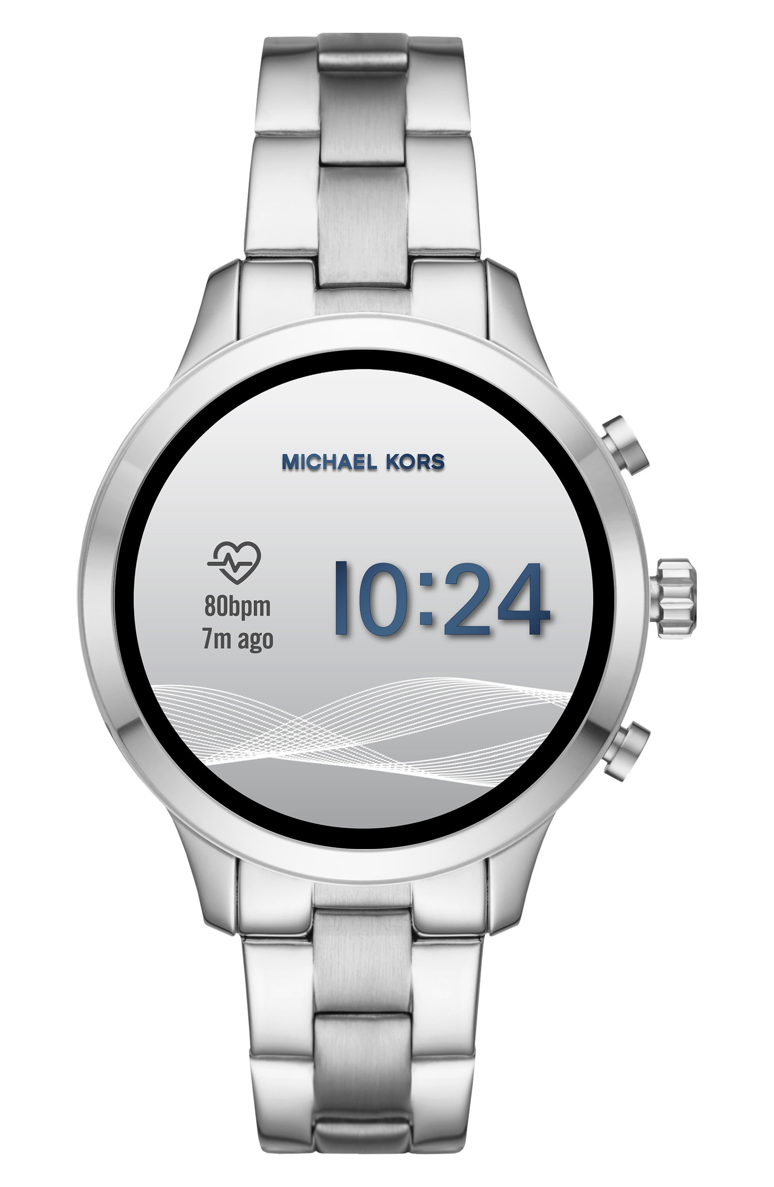 MICHAEL Michael Kors Access Runway Smart Bracelet Watch, 41mm,                             Alternate thumbnail 6, color,                             SILVER