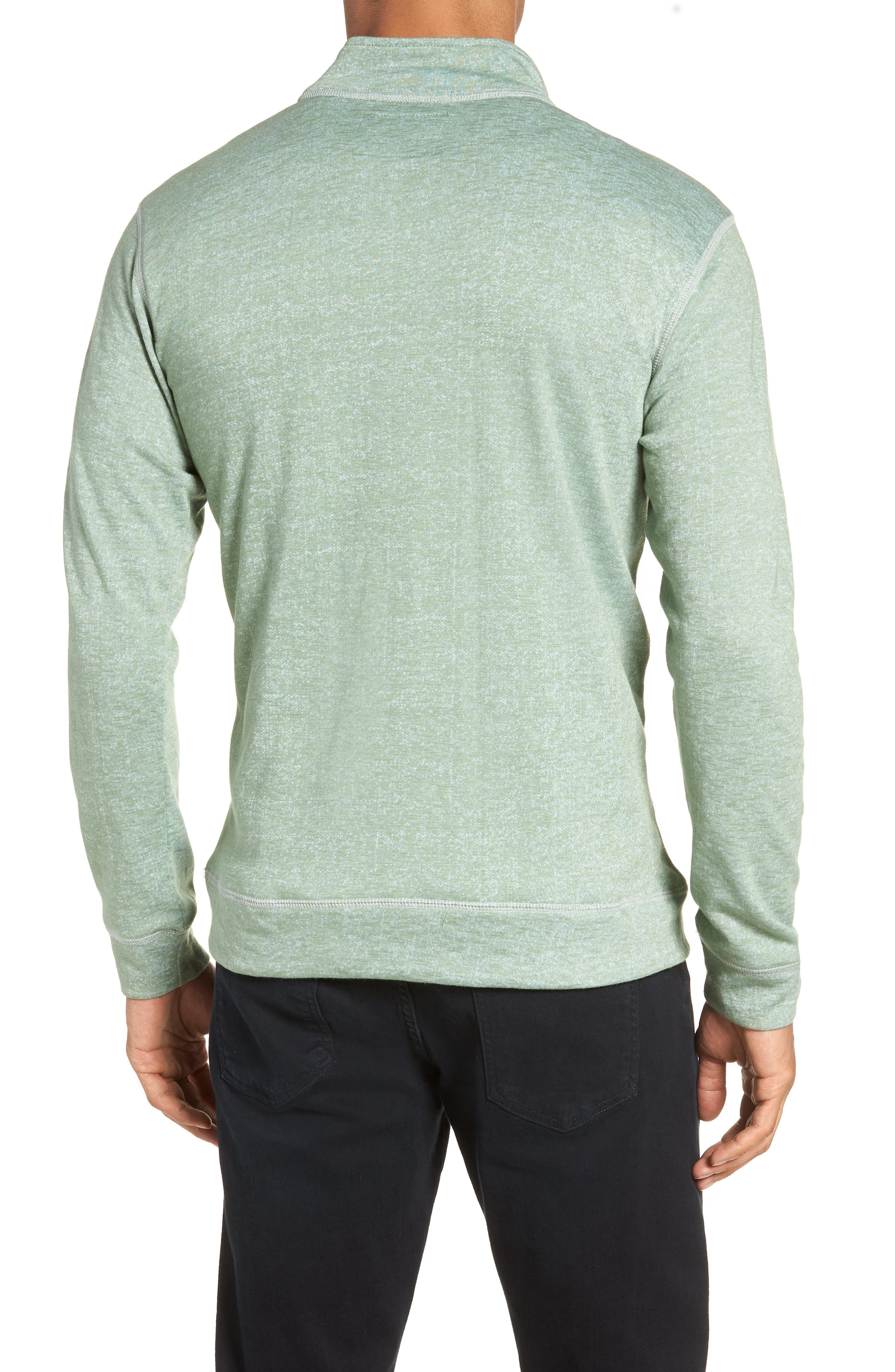French Terry Quarter Zip Shirt,                             Alternate thumbnail 2, color,                             HEDGE