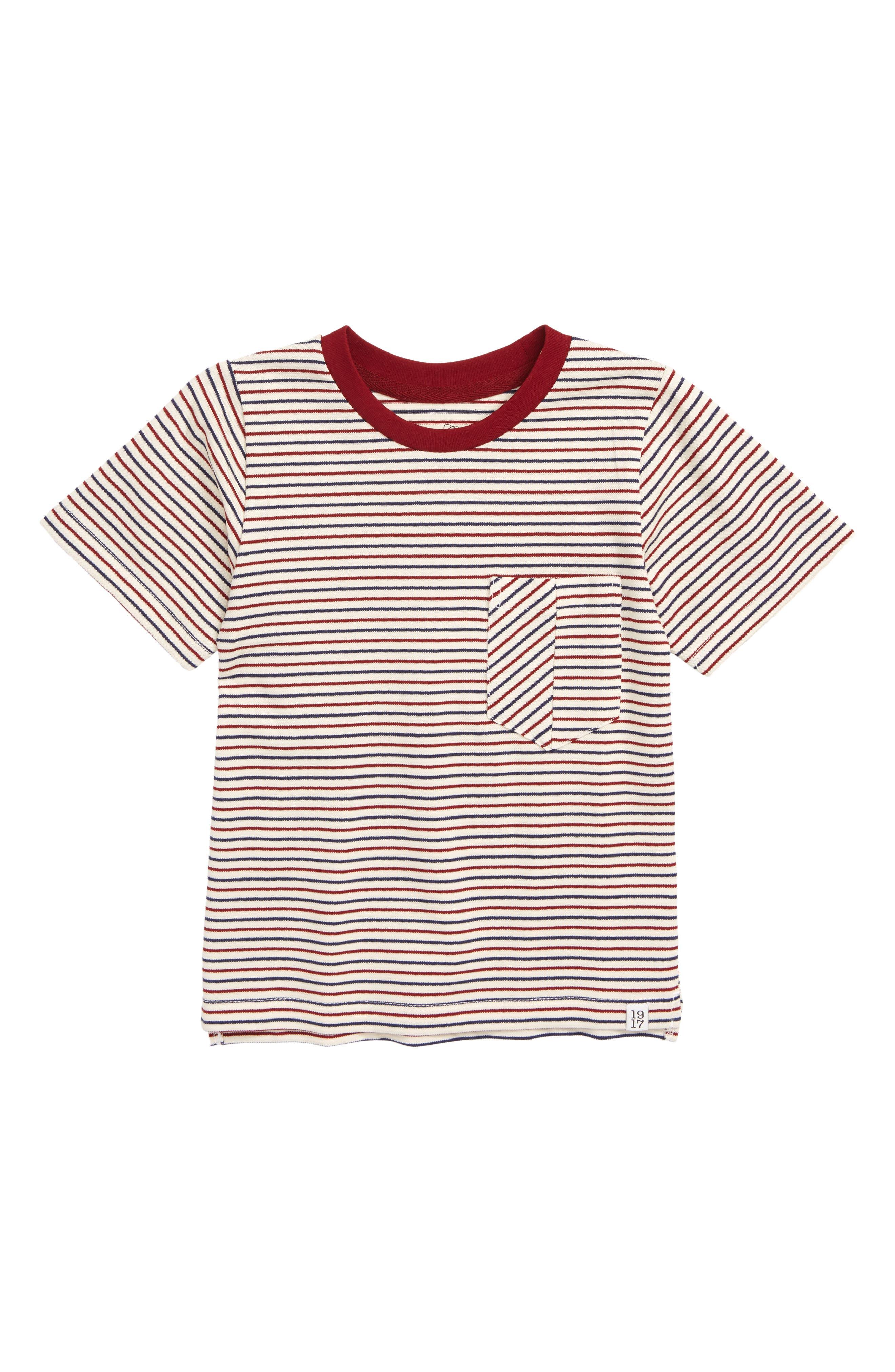 SOVEREIGN CODE Castle Stripe Pocket T-Shirt, Main, color, 640