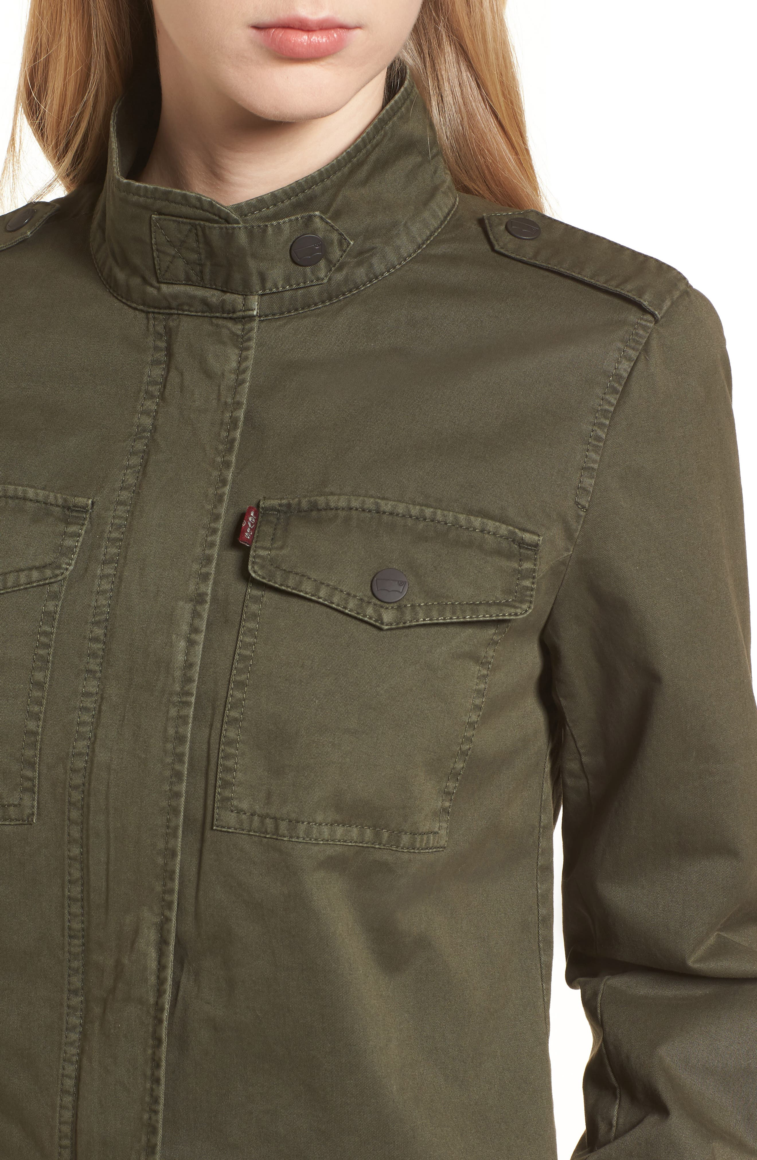 Crop Military Jacket,                             Alternate thumbnail 19, color,