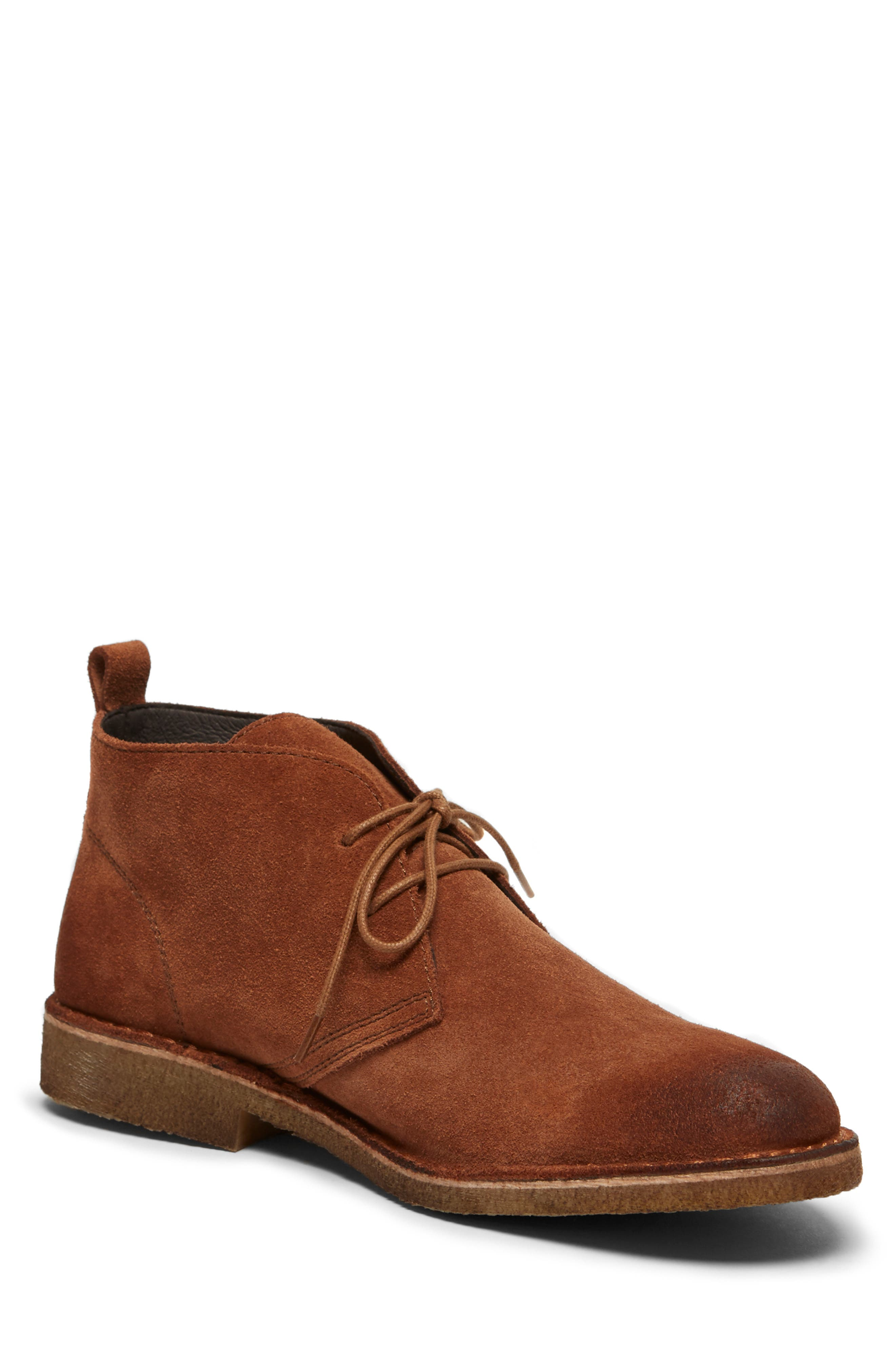 Hewitt Chukka Boot,                             Main thumbnail 1, color,                             RUST SUEDE