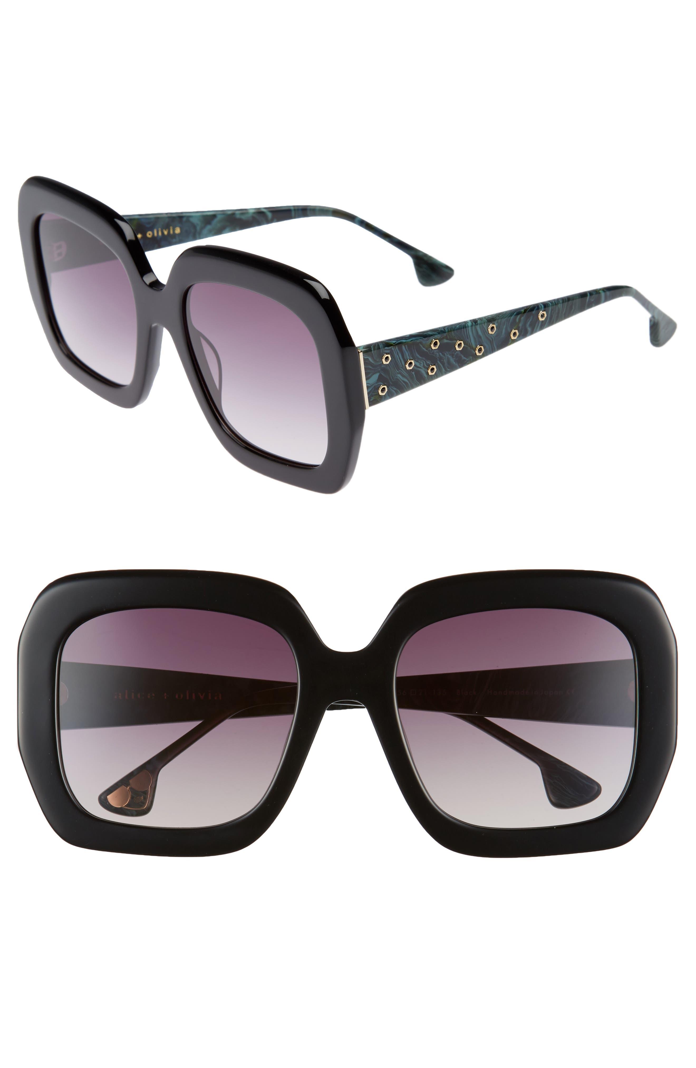 Lexington 55mm Square Sunglasses,                         Main,                         color,