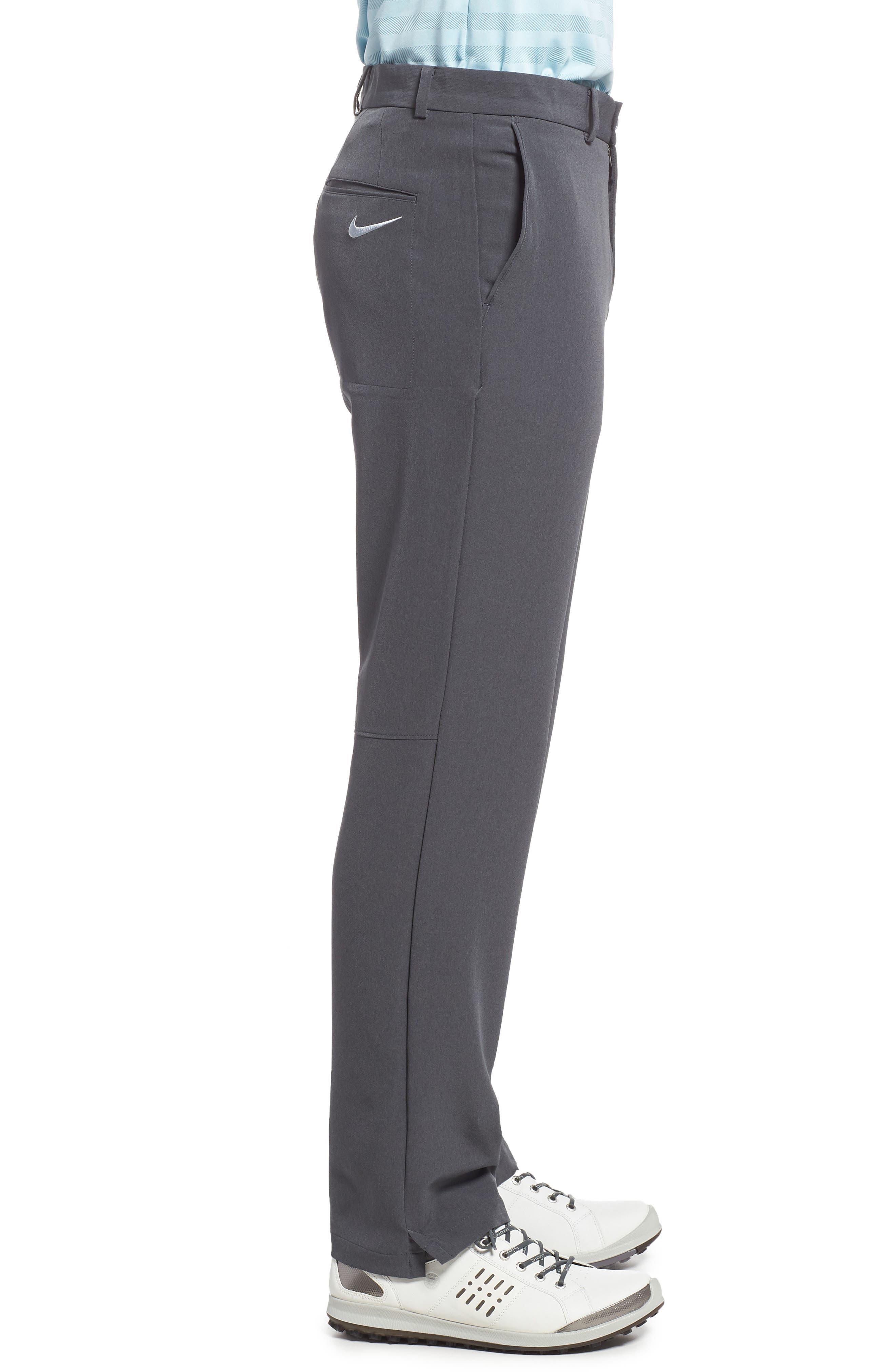 Hybrid Flex Golf Pants,                             Alternate thumbnail 3, color,                             CHARCOAL HEATHER/ DARK GREY