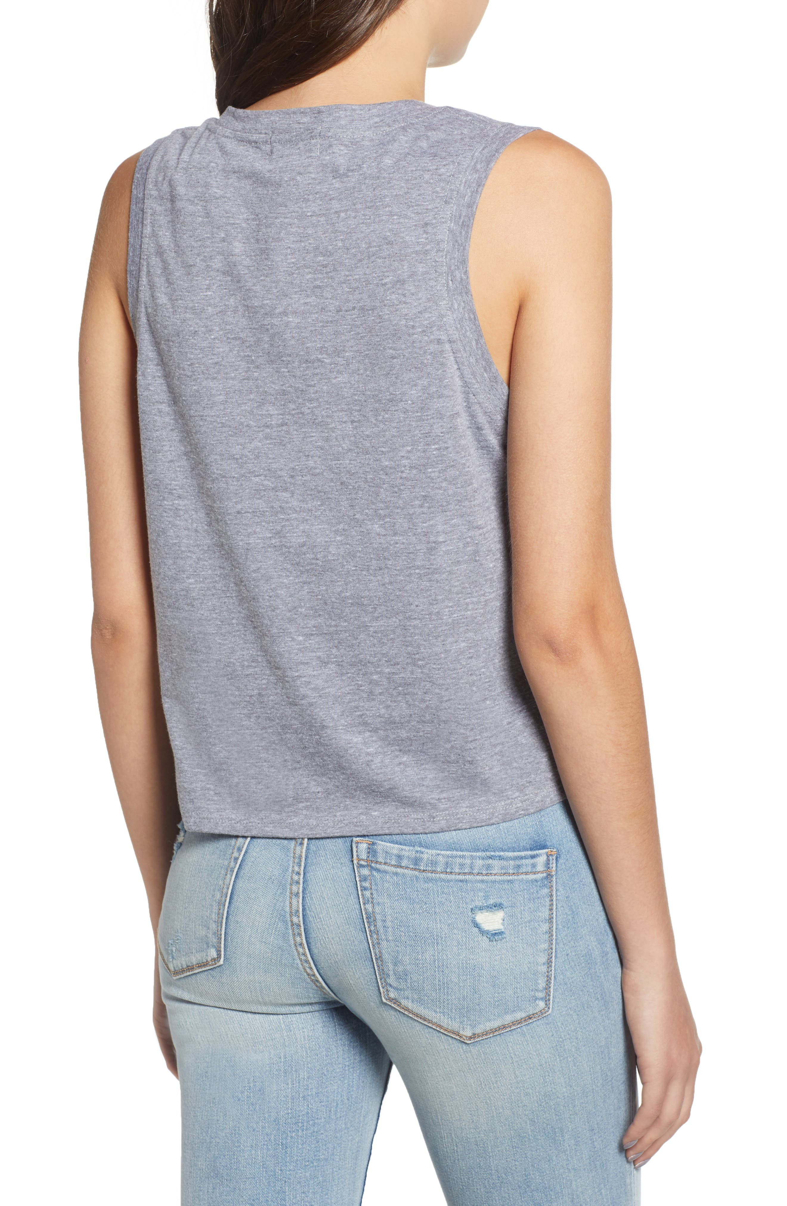 Tie Hem Tank,                             Alternate thumbnail 2, color,                             GREY
