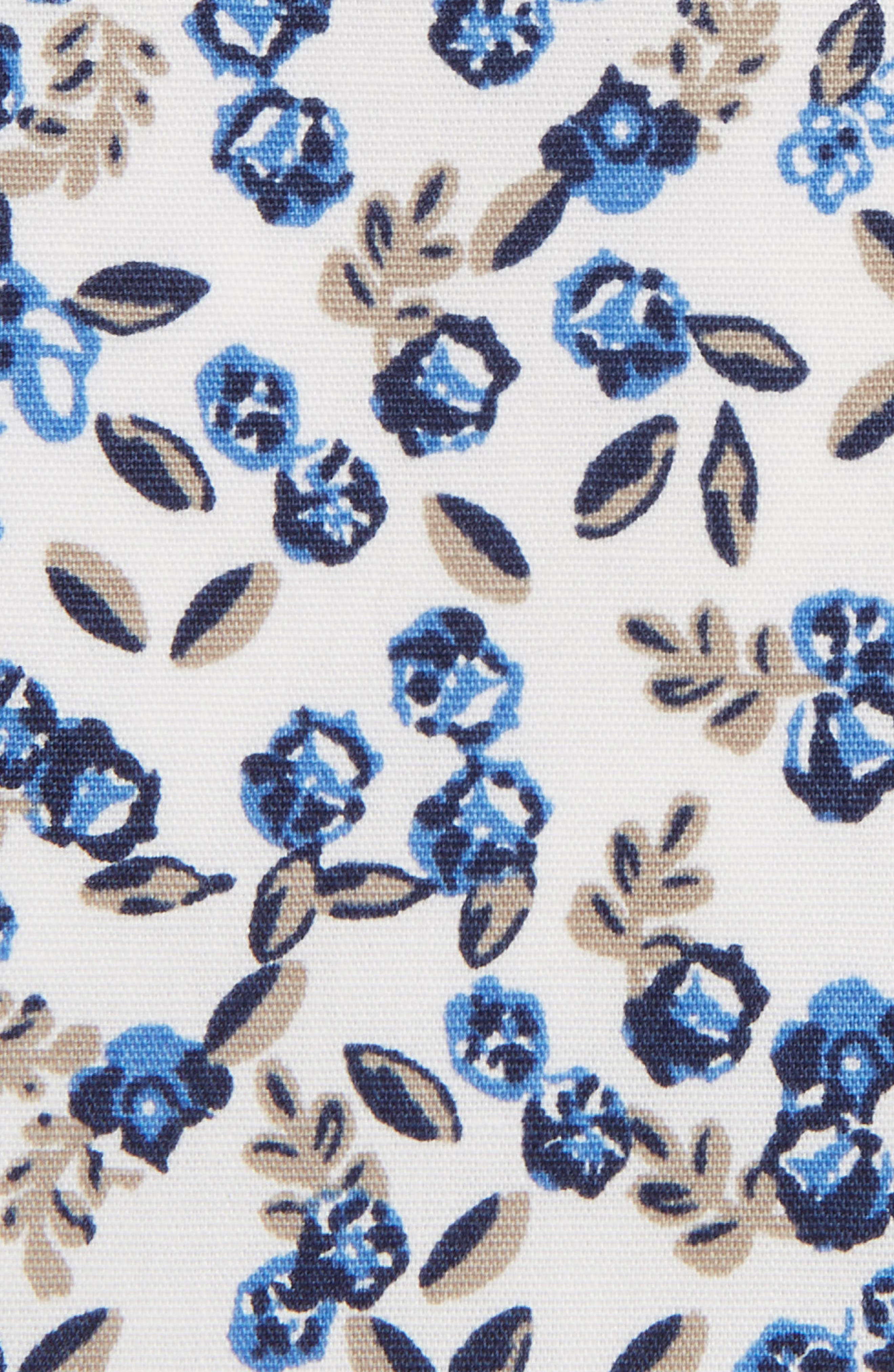 Floral Pocket Square,                             Alternate thumbnail 3, color,                             WHITE