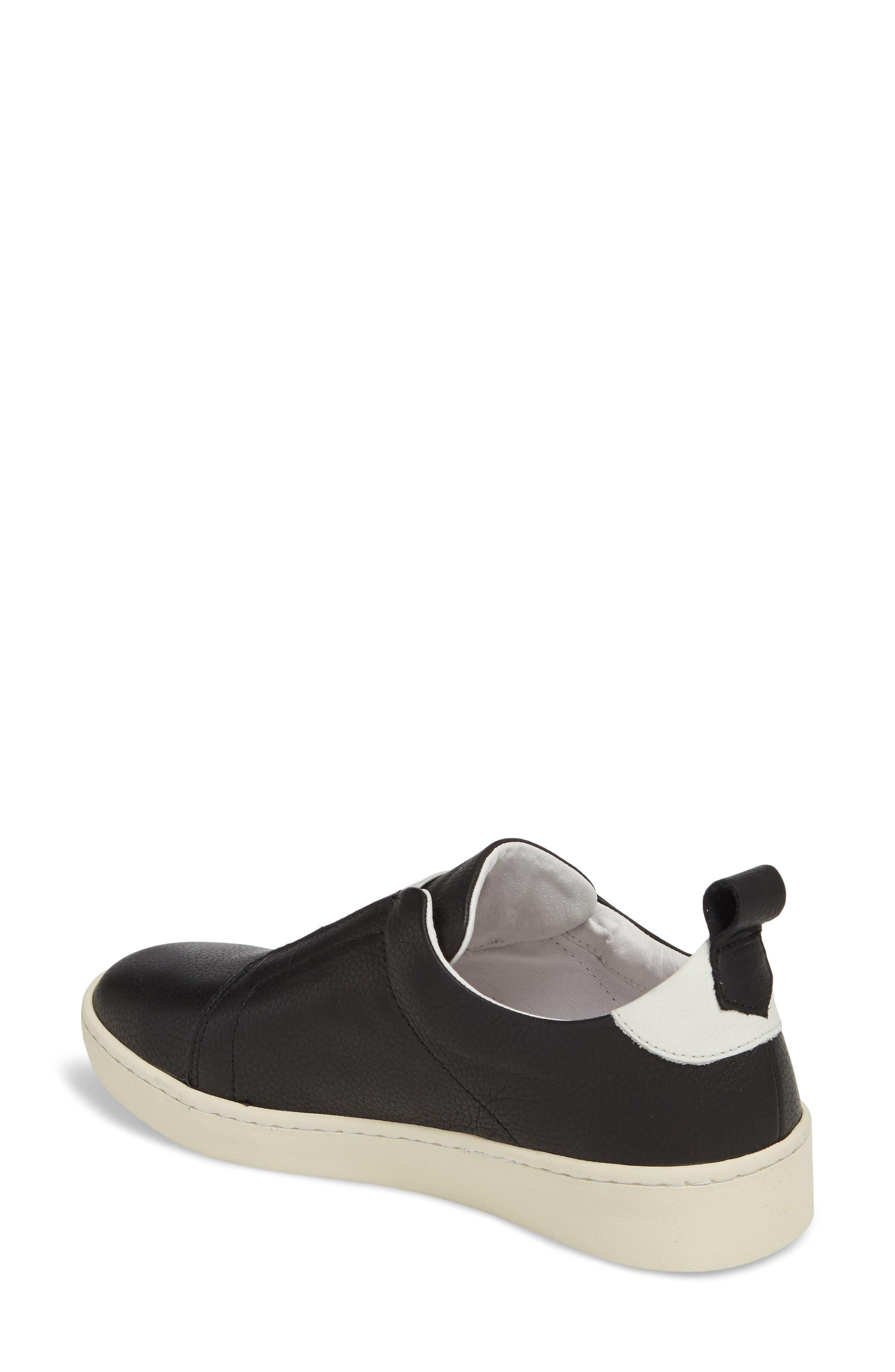 Mutt Slip-On Sneaker,                             Alternate thumbnail 2, color,                             BLACK BRITO LEATHER