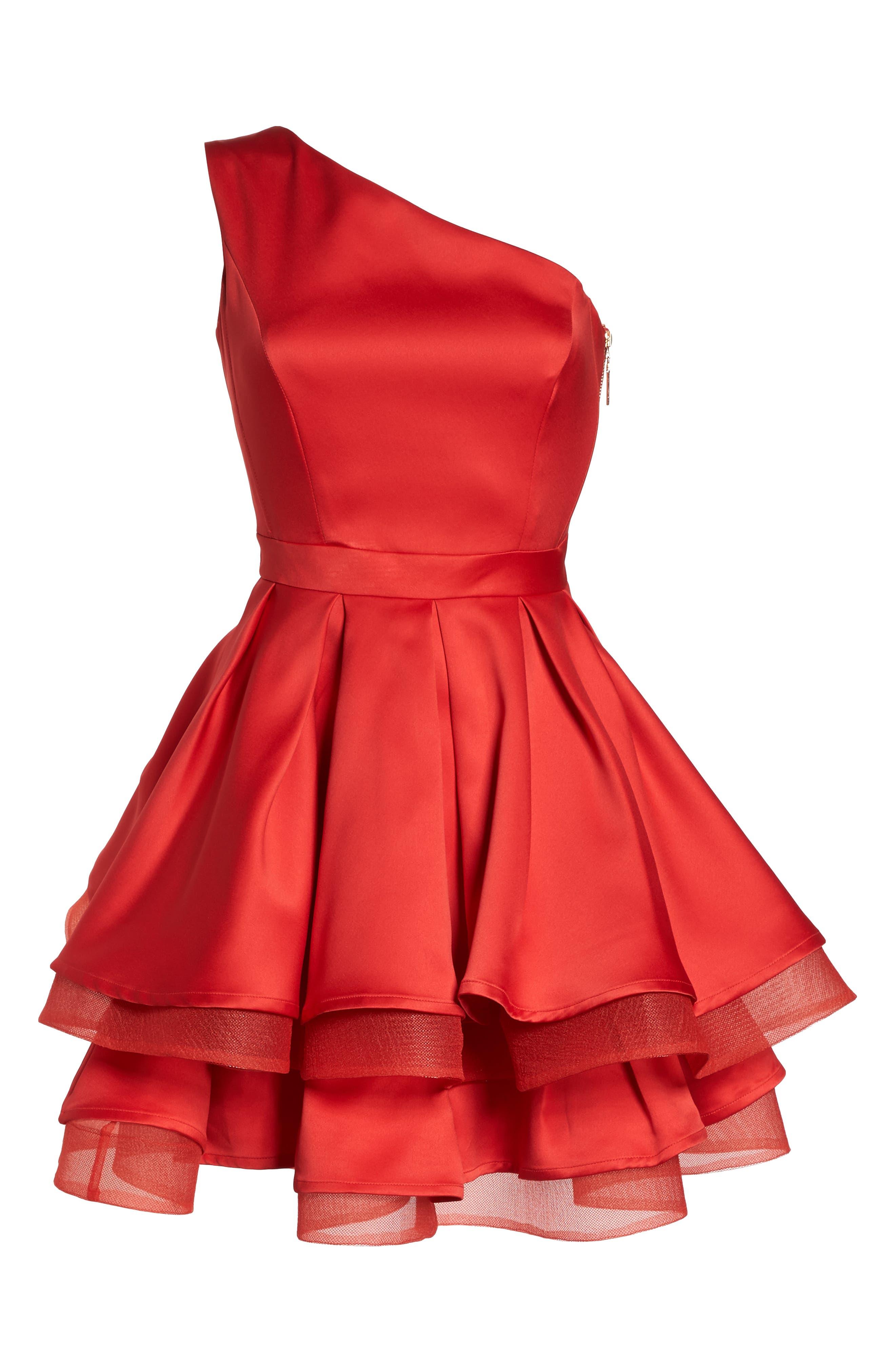 Emmanuel One-Shoulder Party Dress,                             Alternate thumbnail 6, color,                             600