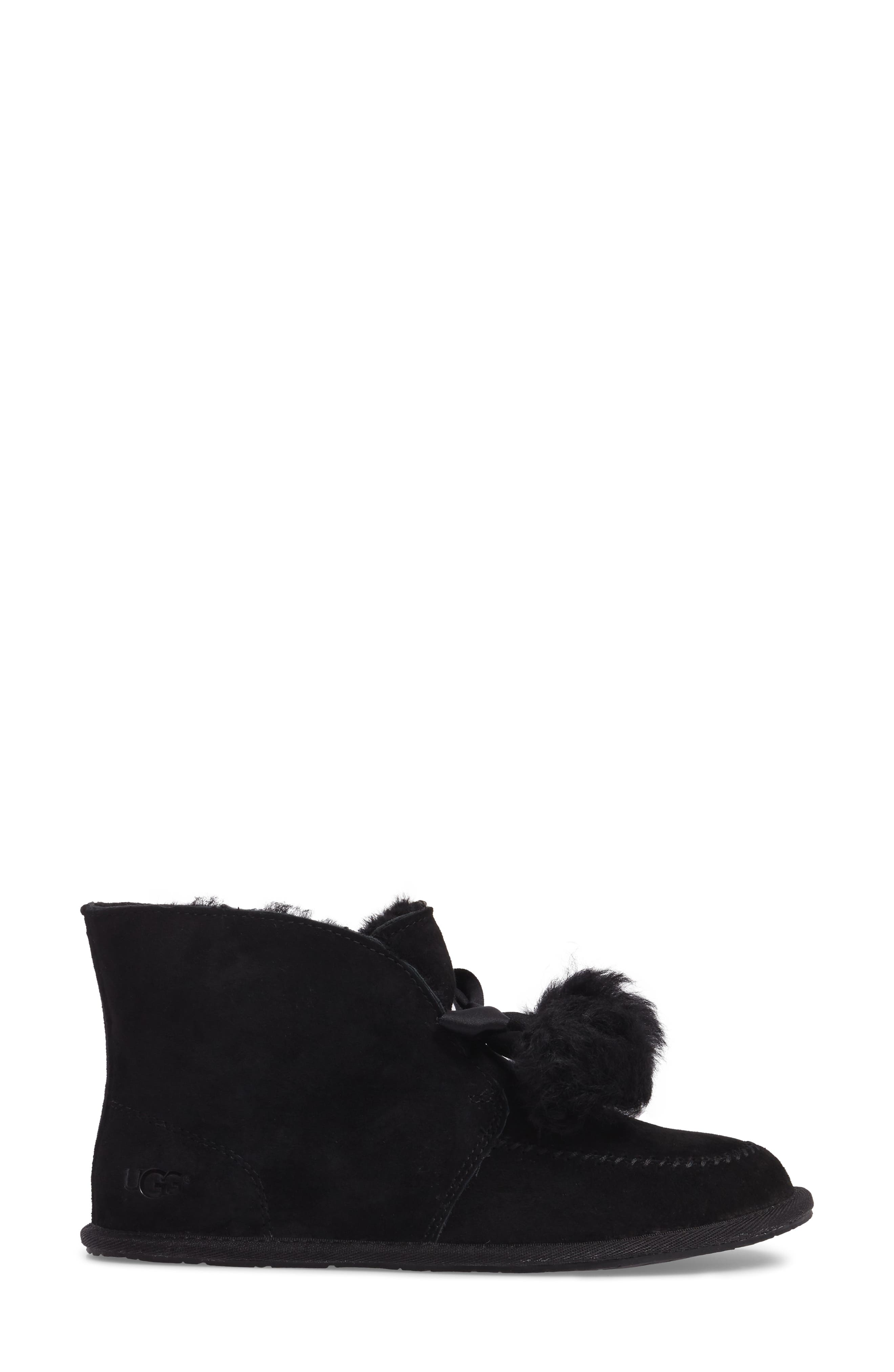 Kallen Silkee<sup>™</sup> Suede Slipper,                             Alternate thumbnail 3, color,                             001