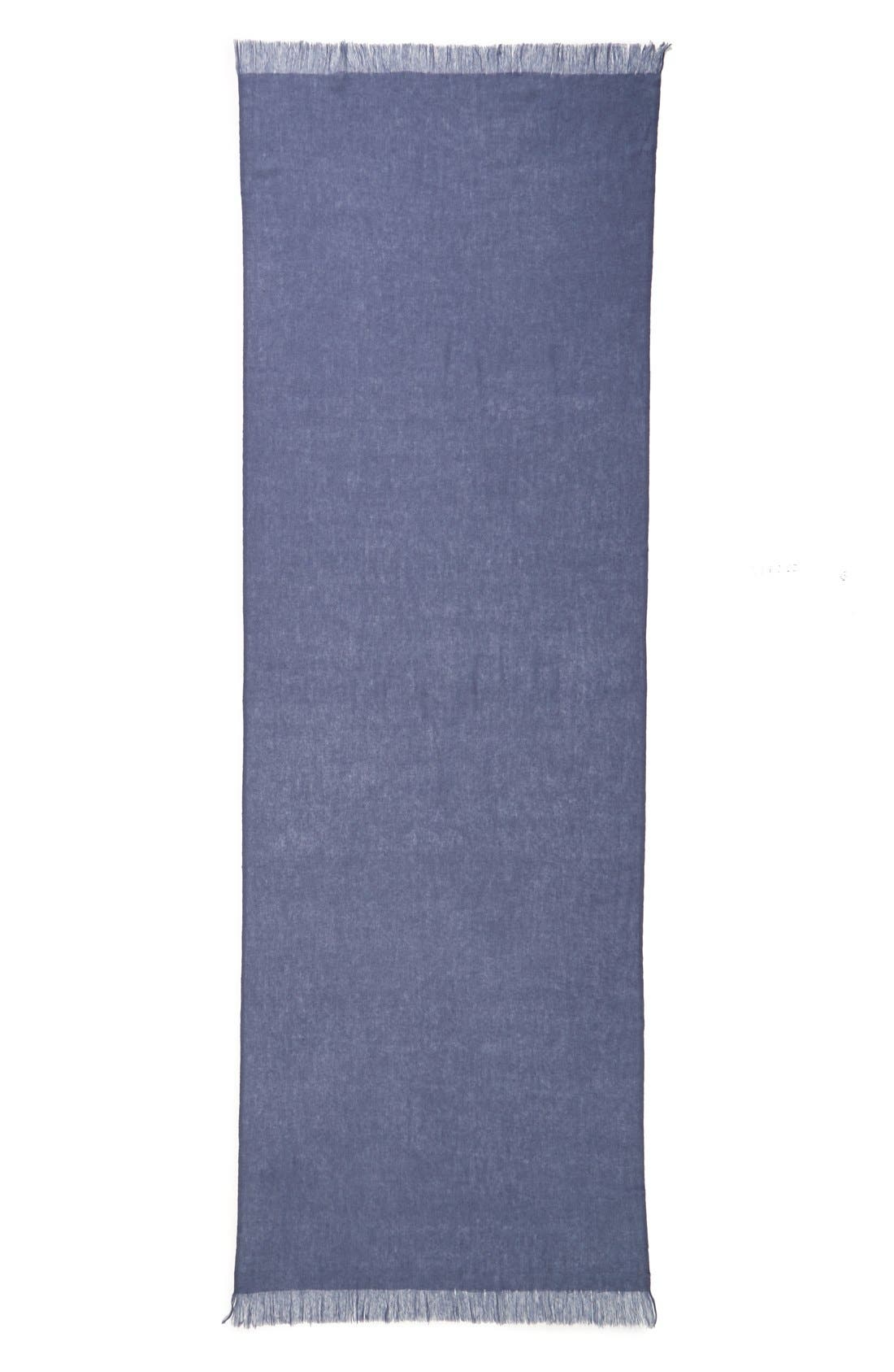 Caslon<sup>®</sup> Heathered Cashmere Gauze Scarf,                             Alternate thumbnail 19, color,