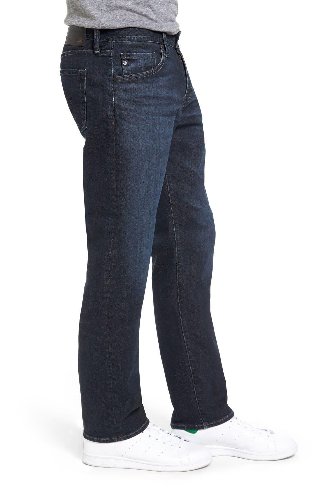 Graduate Slim Straight Leg Jeans,                             Alternate thumbnail 3, color,                             ROCKWELL