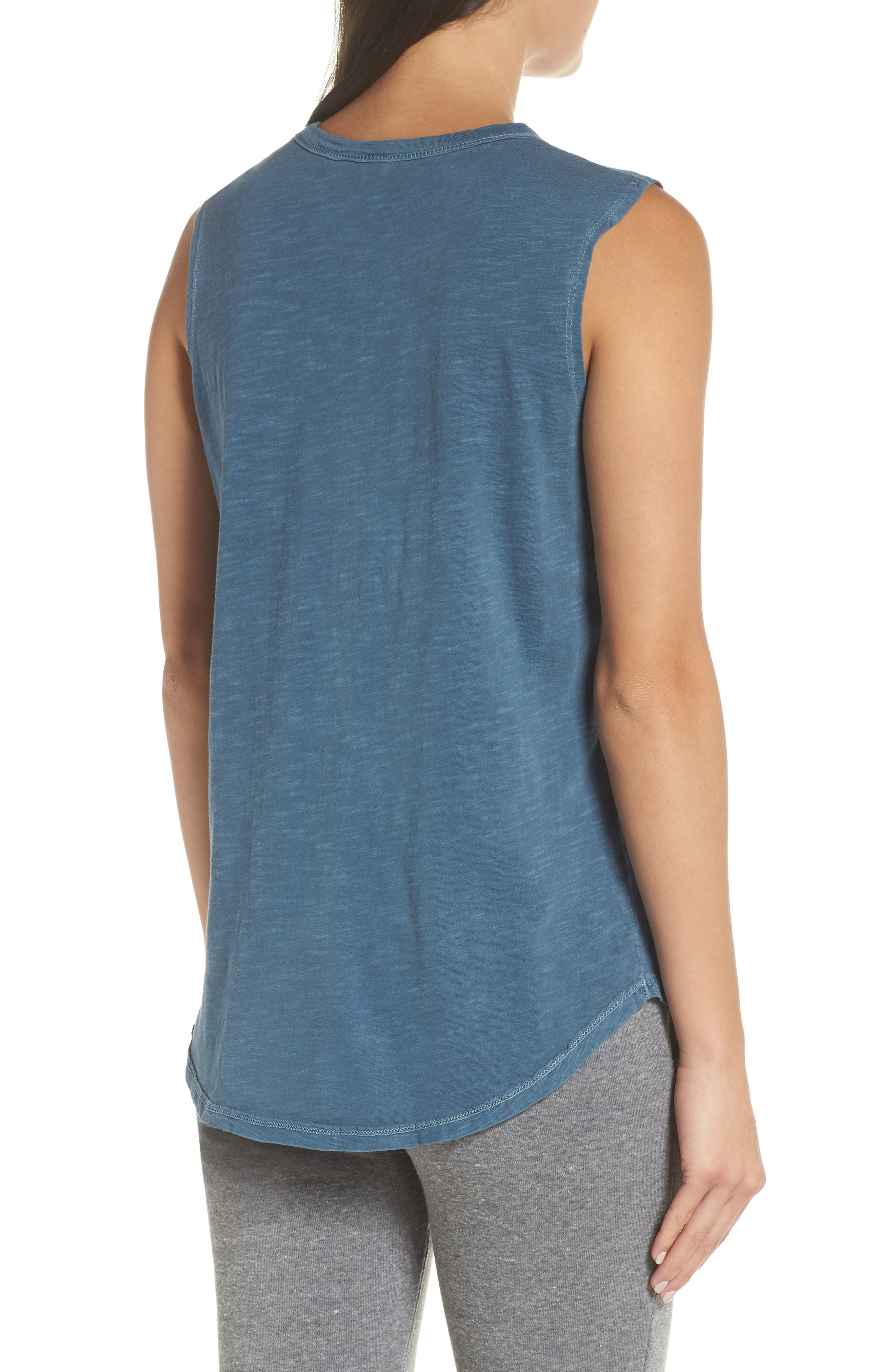 Inside Out Muscle Tee,                             Alternate thumbnail 2, color,                             MINERAL BLUE PIGMENT