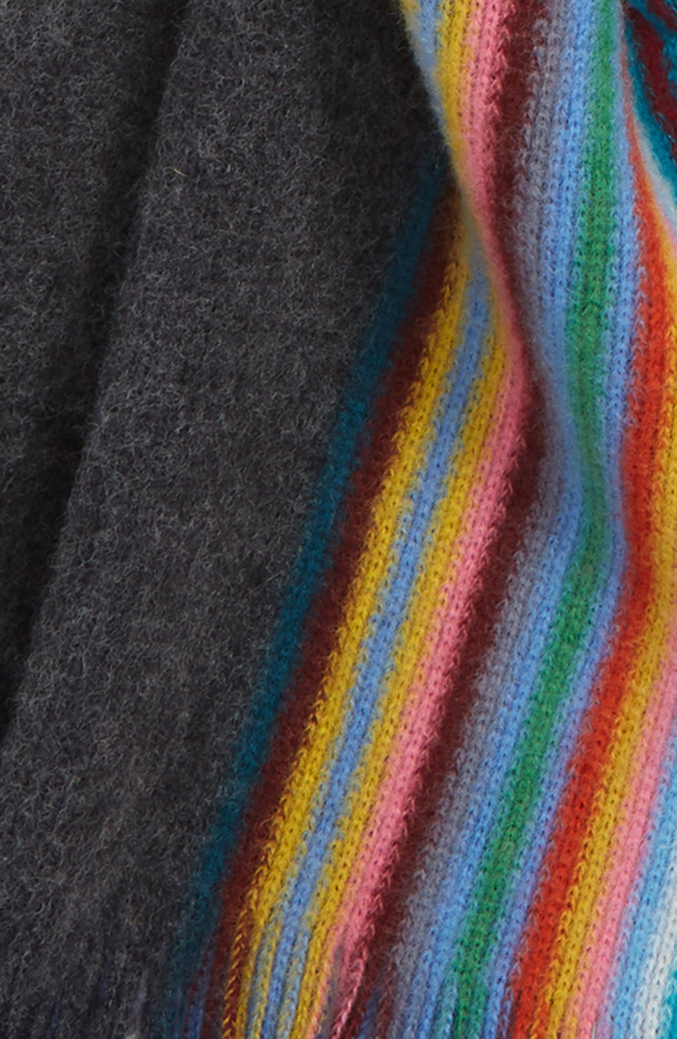 PAUL SMITH,                             Stripe Wool Scarf,                             Alternate thumbnail 3, color,                             028