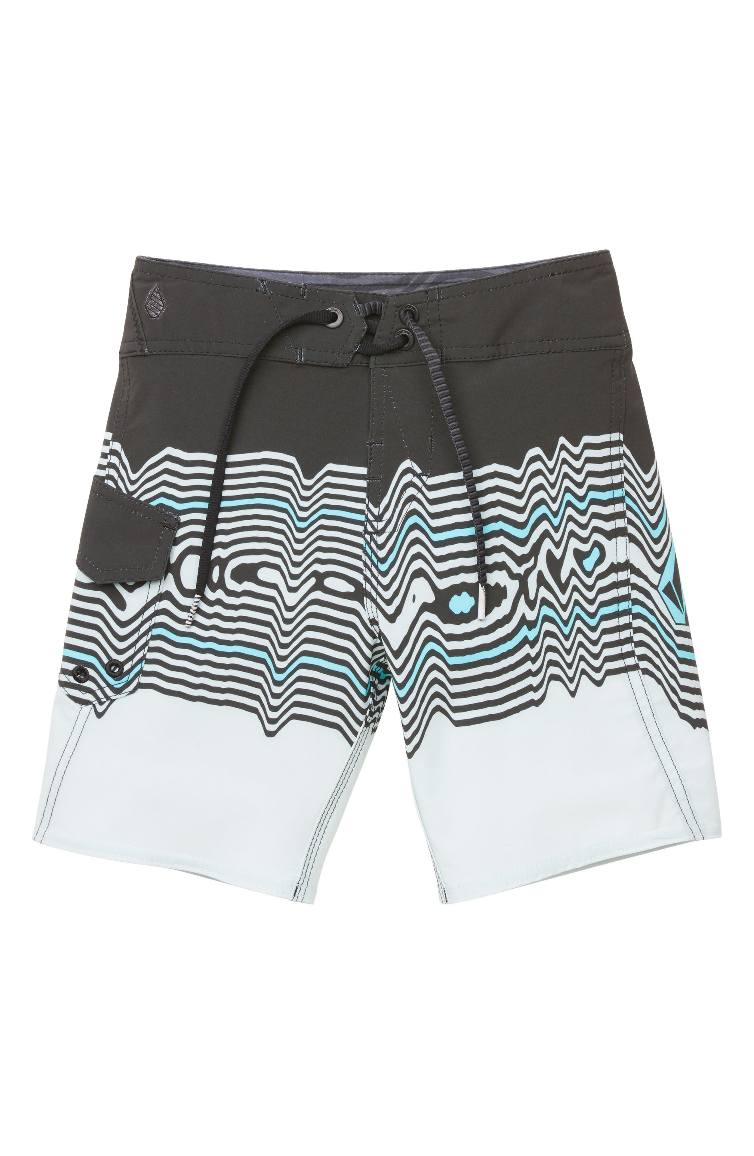 Lido Vibes Mod Board Shorts,                         Main,                         color, STEALTH