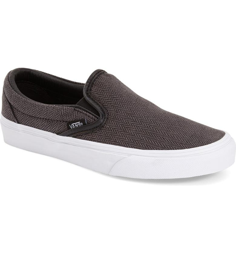 Vans  Classic  Herringbone Slip-On (Women)  6565619cc