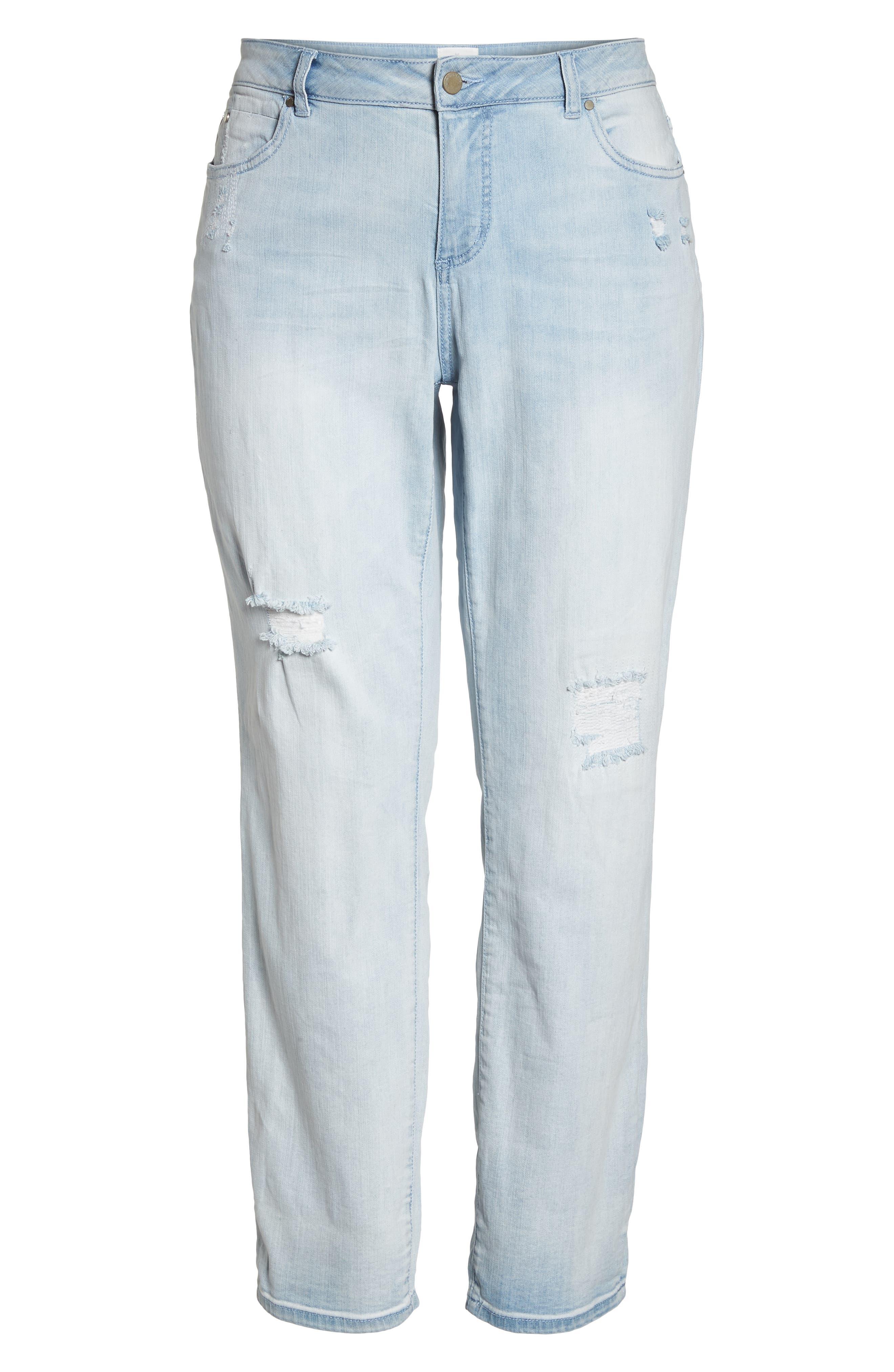 Distressed Boyfriend Jeans,                             Alternate thumbnail 6, color,                             450