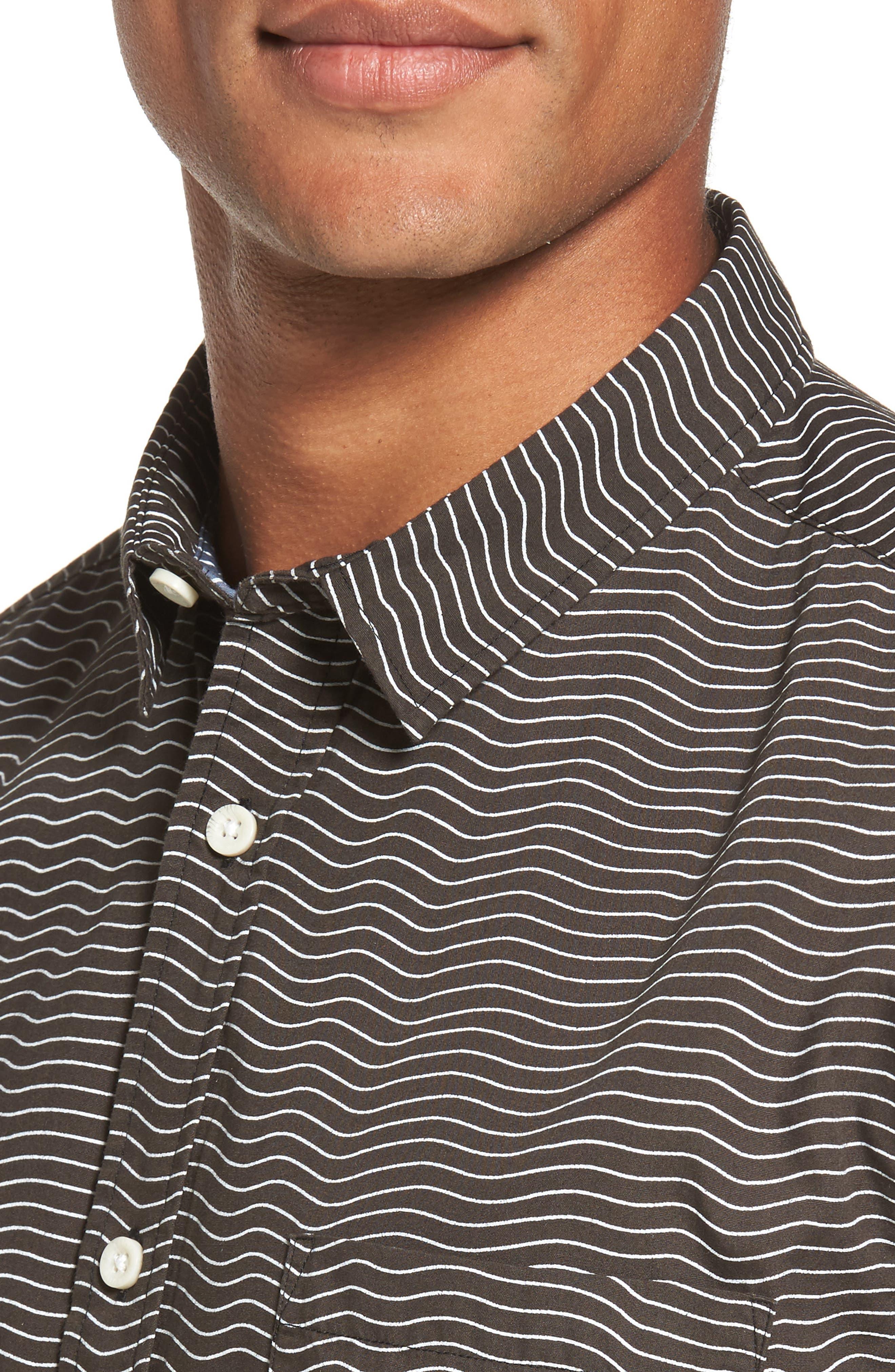 Heat Wave Stripe Shirt,                             Alternate thumbnail 4, color,                             002