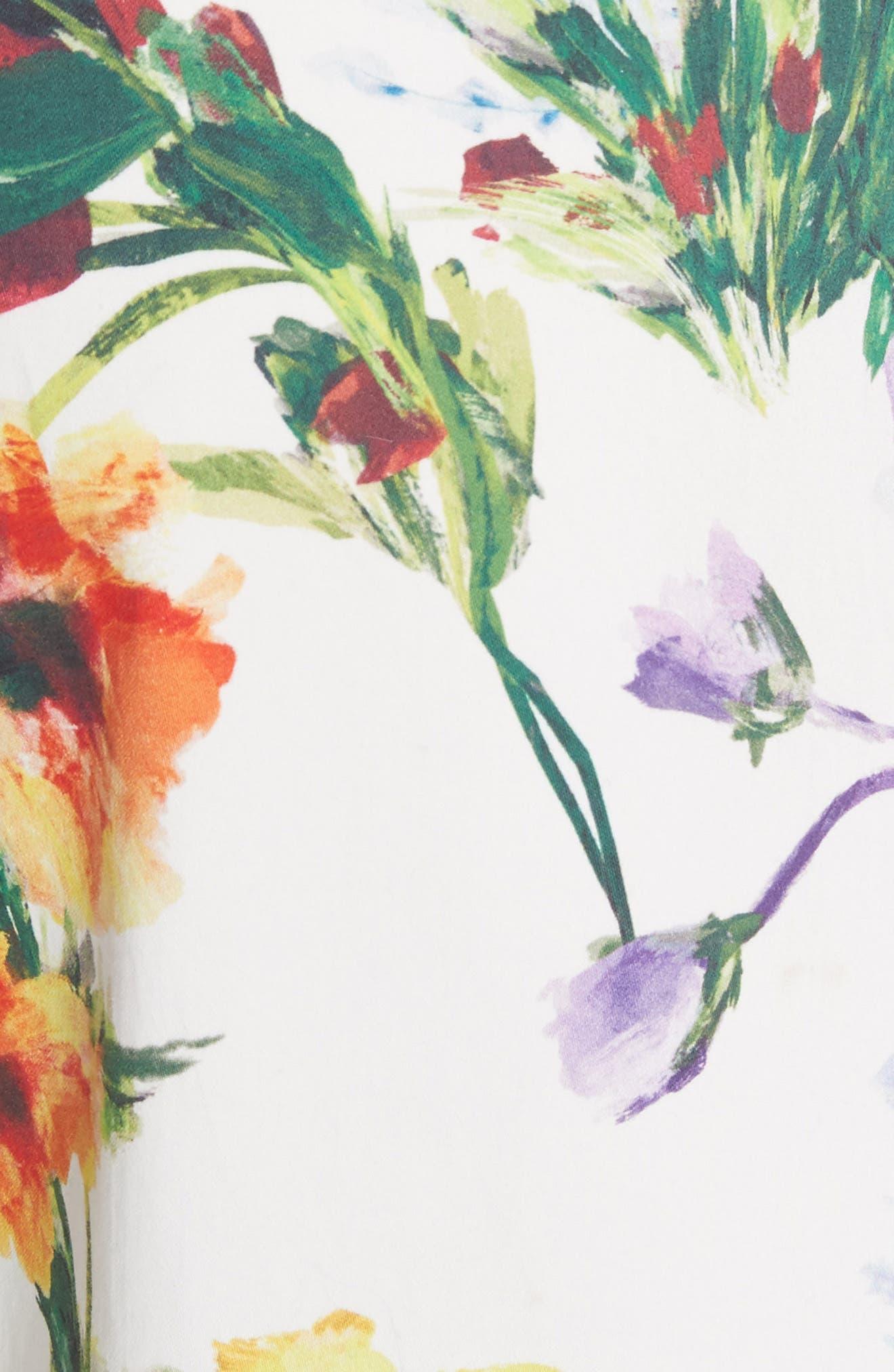 Dustin Floral Flared Pants,                             Alternate thumbnail 5, color,                             176