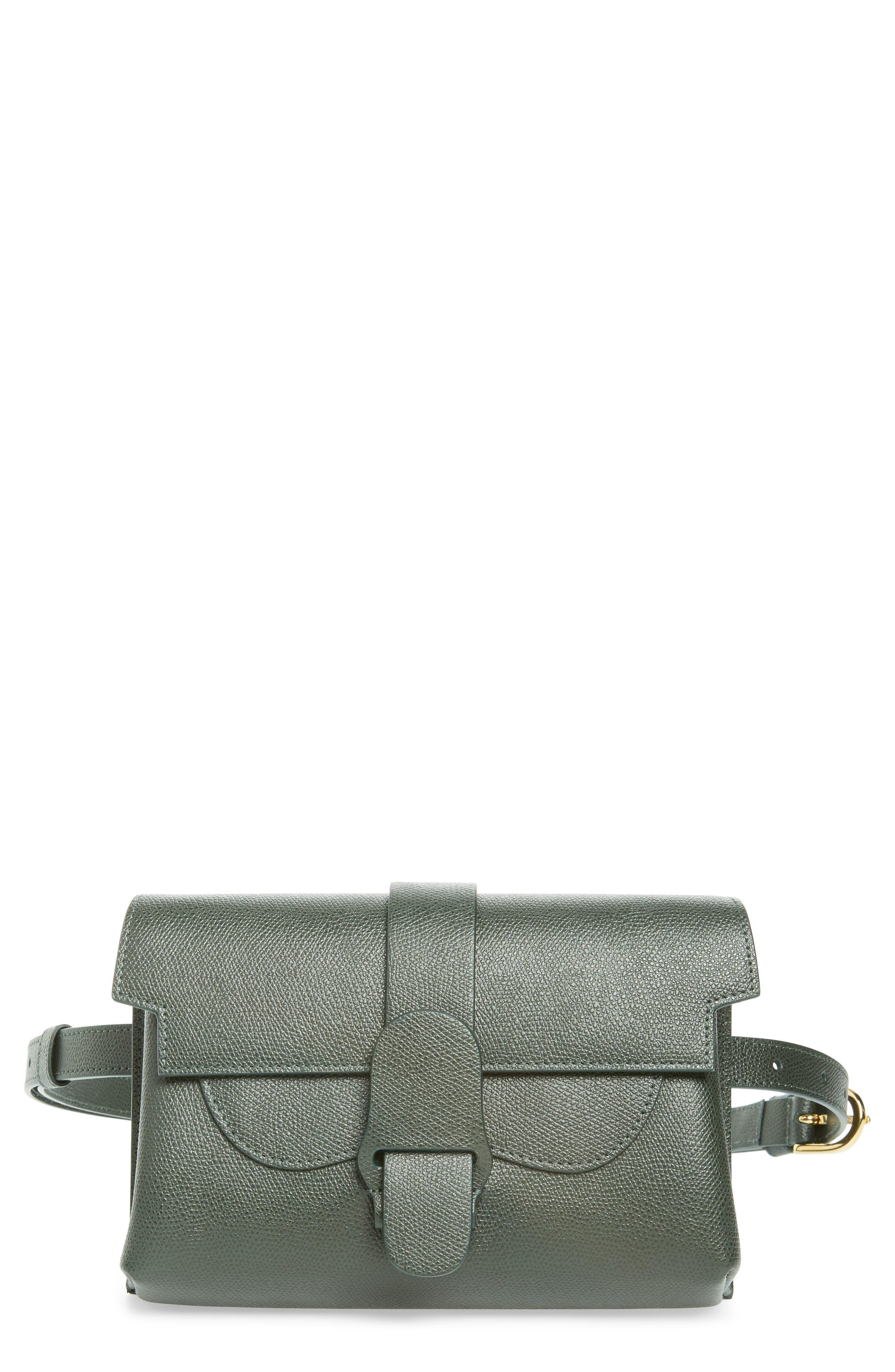 SENREVE Aria Leather Belt Bag - Green in Forest