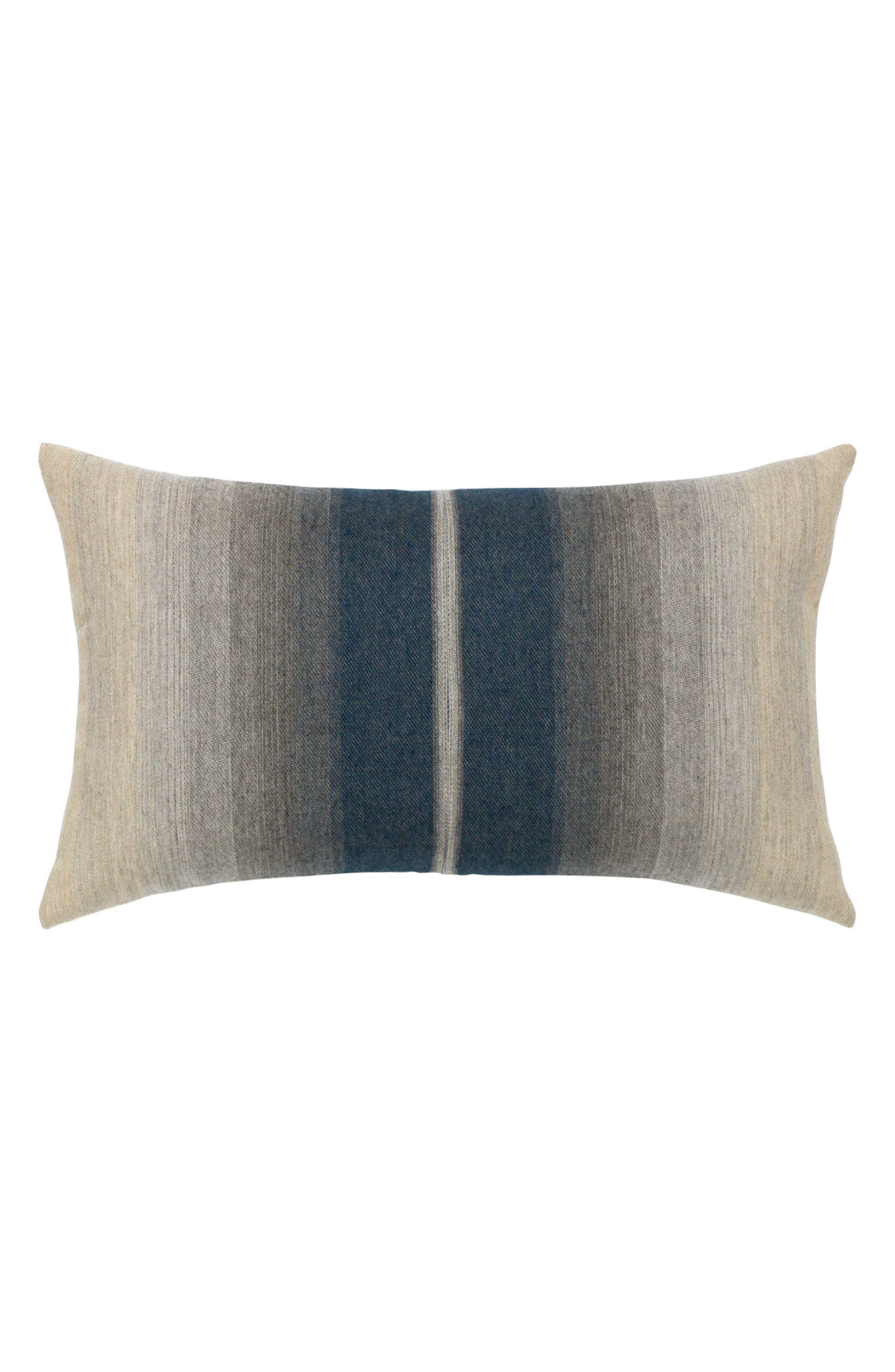 Ombré Indigo Lumbar Pillow,                             Main thumbnail 1, color,                             BLUE/ GREY