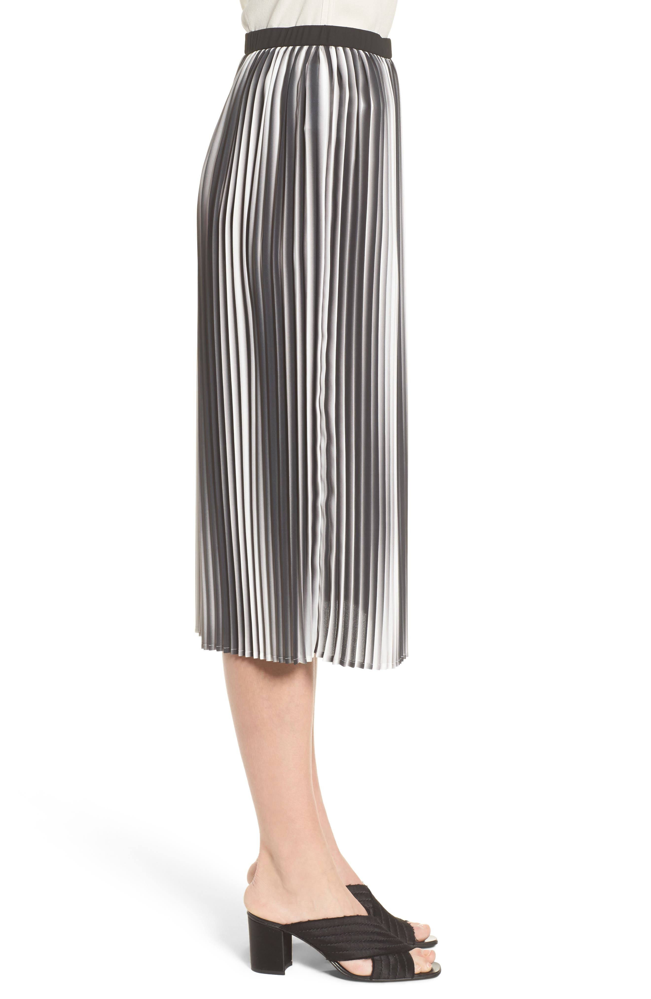 Printed Pleated Skirt,                             Alternate thumbnail 3, color,                             105
