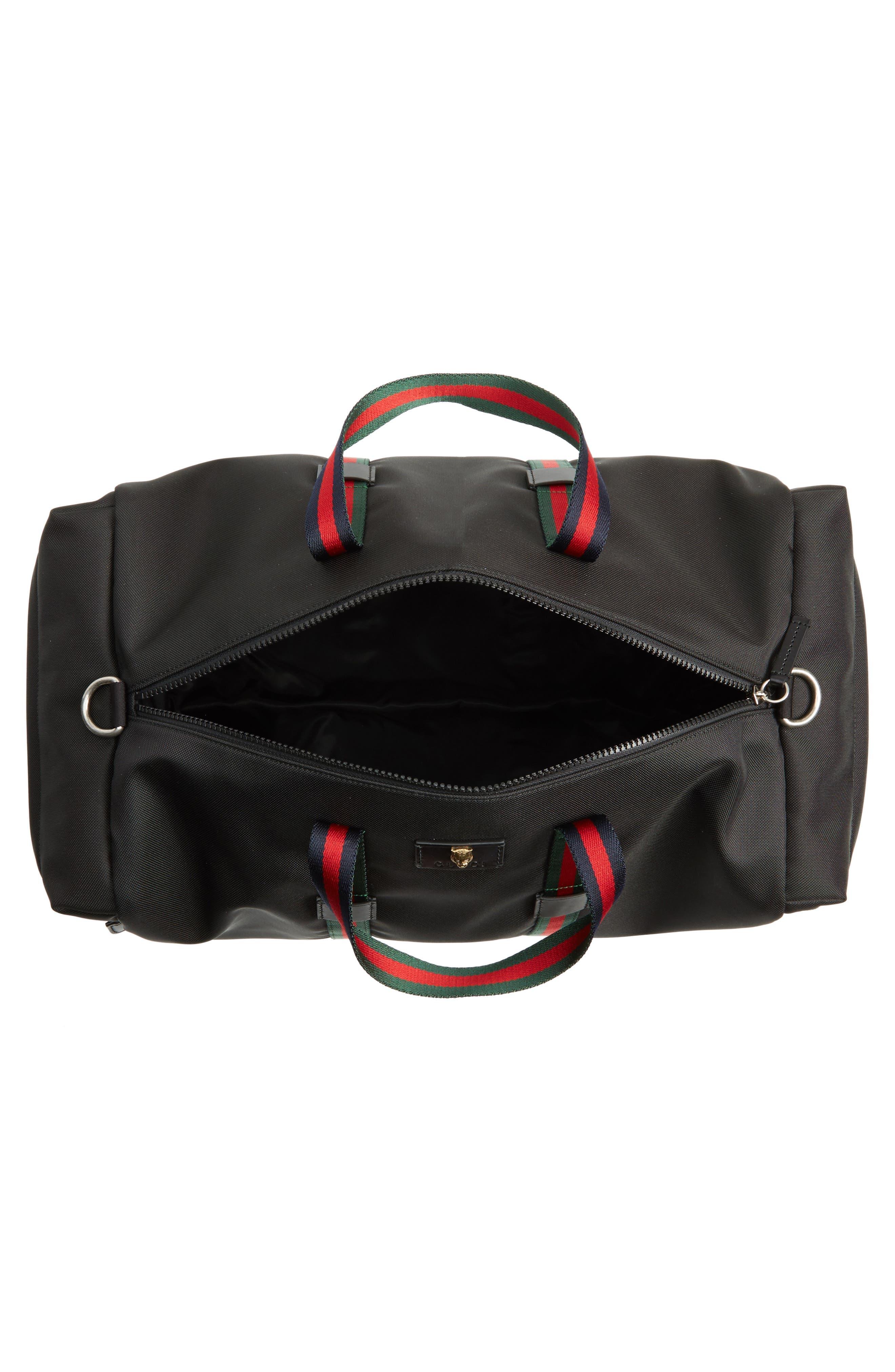 Techpack Canvas Duffle Bag,                             Alternate thumbnail 4, color,                             001