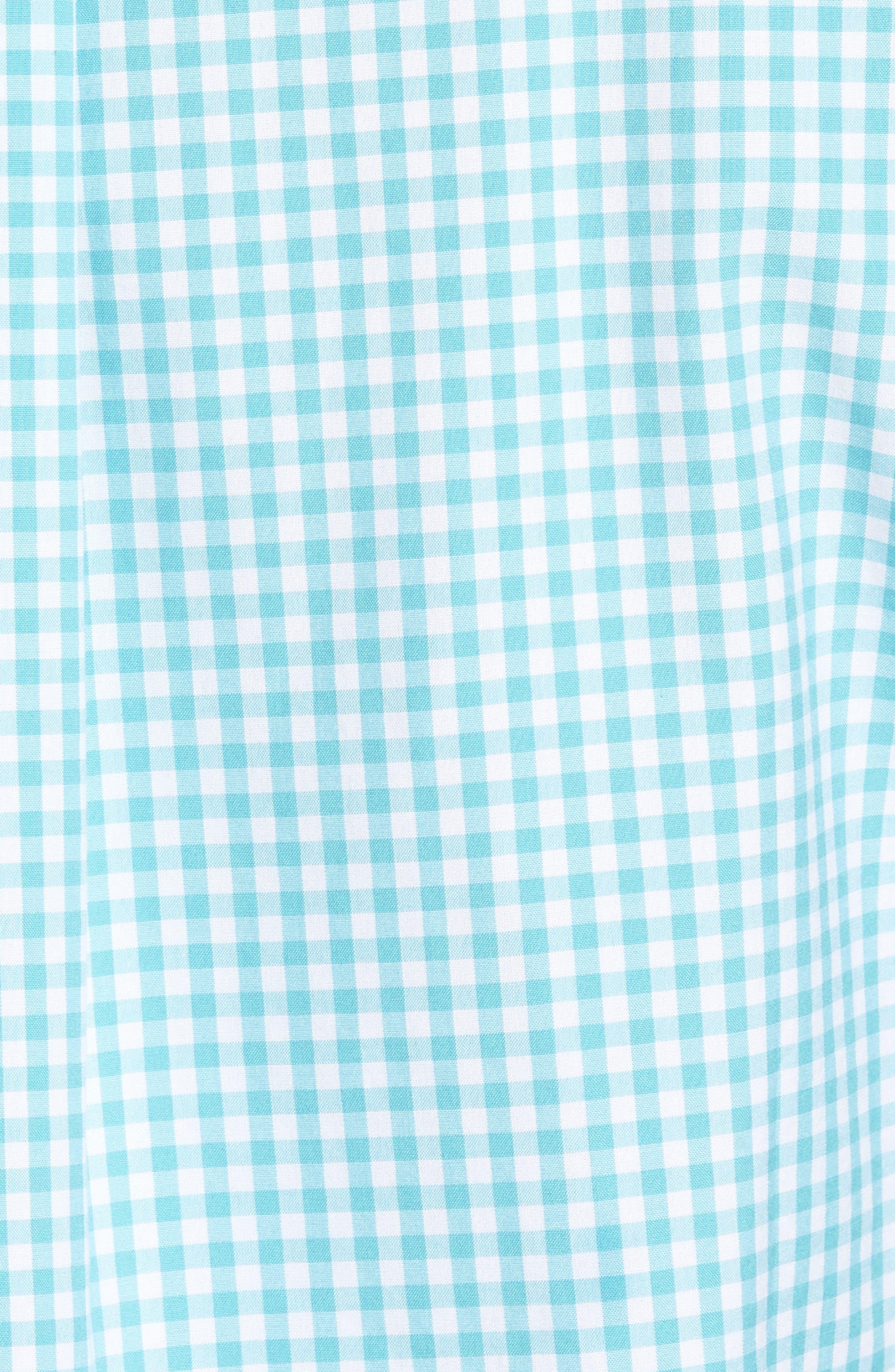 VINEYARD VINES,                             Seafloor Tucker Gingham Sport Shirt,                             Alternate thumbnail 5, color,                             302