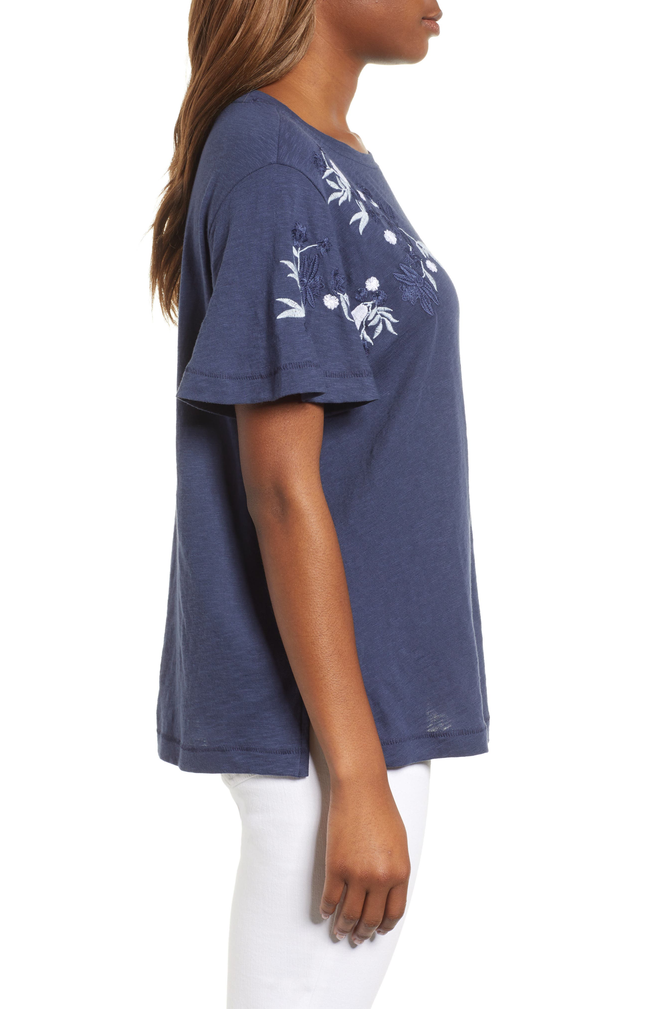 Embroidered Tee,                             Alternate thumbnail 7, color,