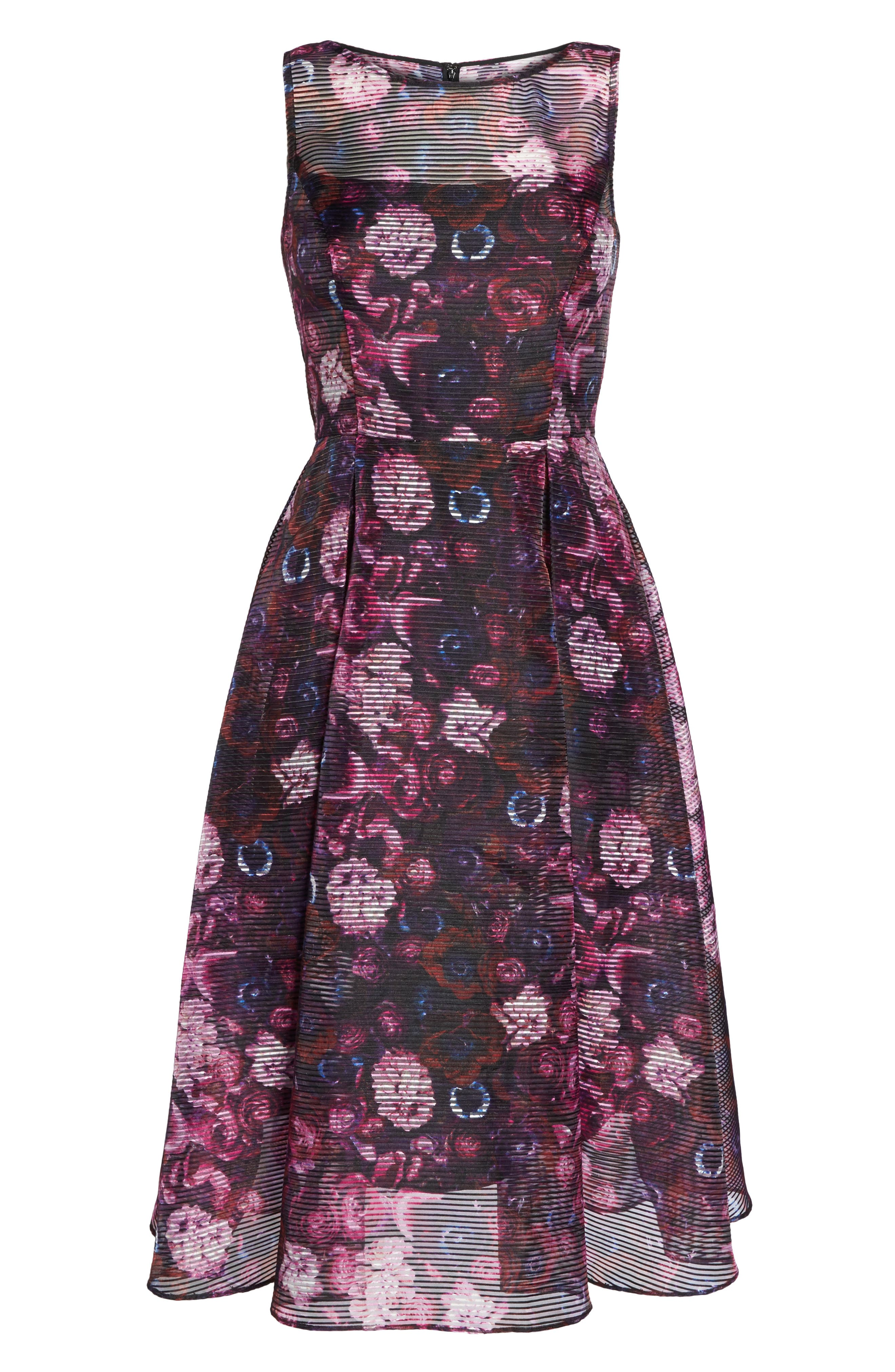 Fit & Flare Dress,                             Alternate thumbnail 6, color,                             010