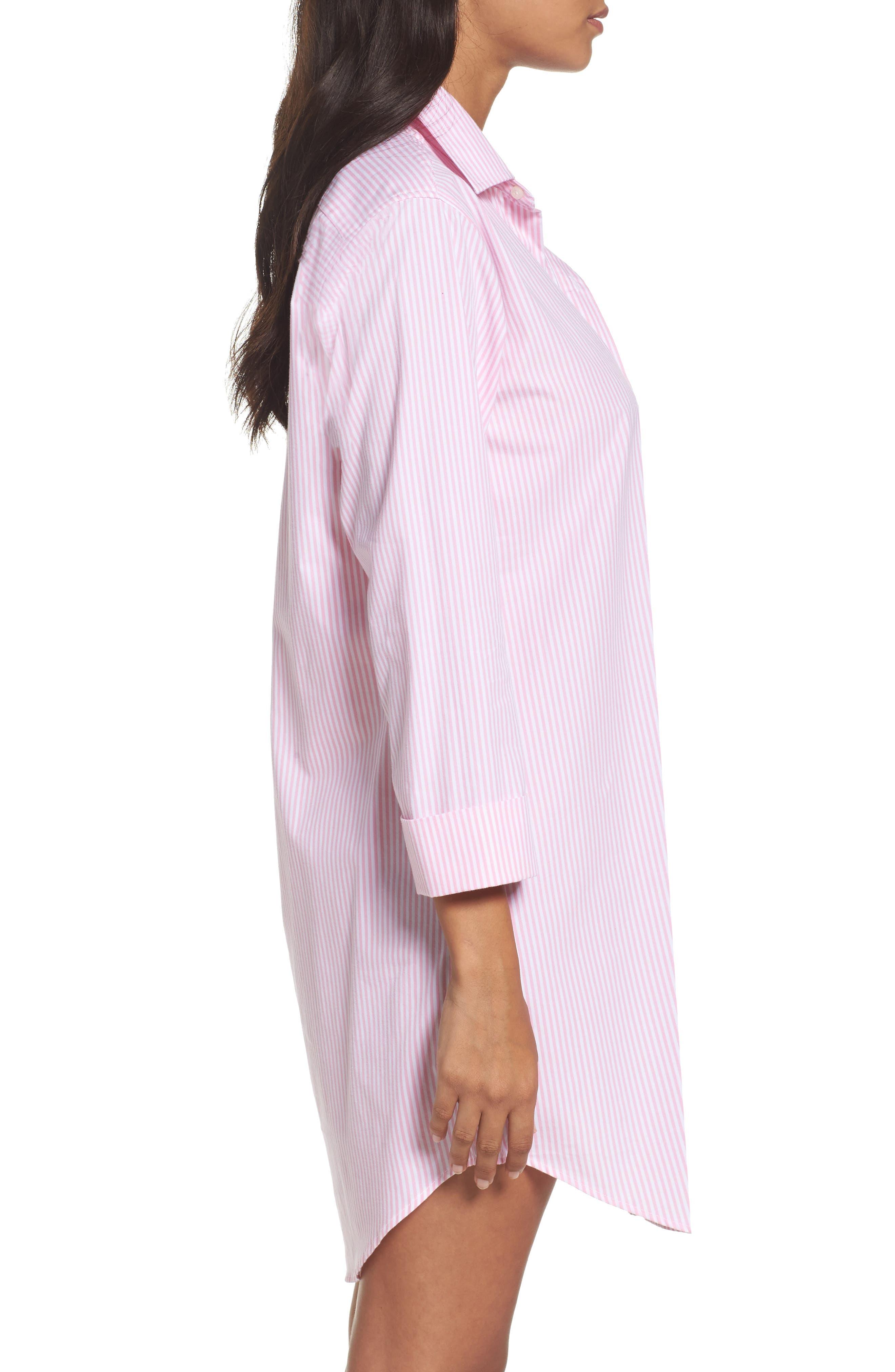 Cotton Poplin Sleep Shirt,                             Alternate thumbnail 8, color,