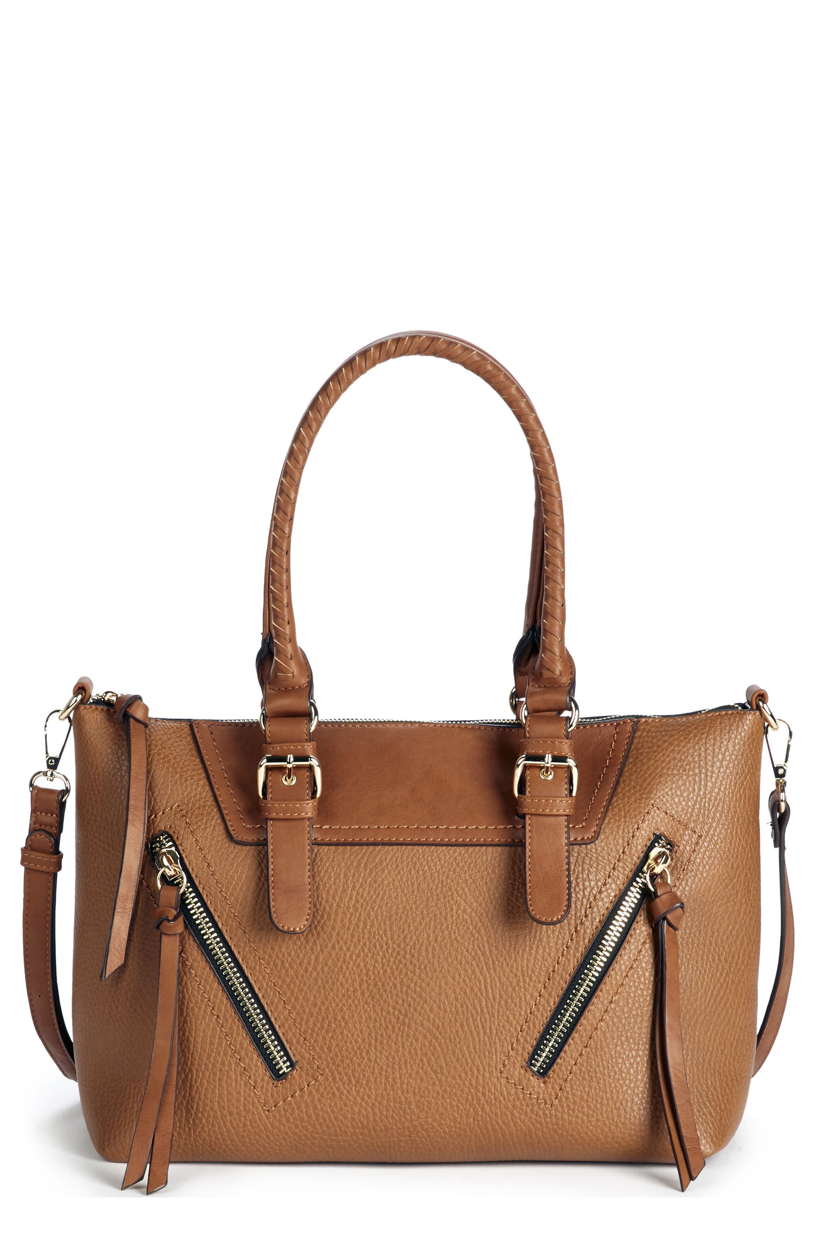 Girard Faux Leather Satchel,                             Main thumbnail 2, color,
