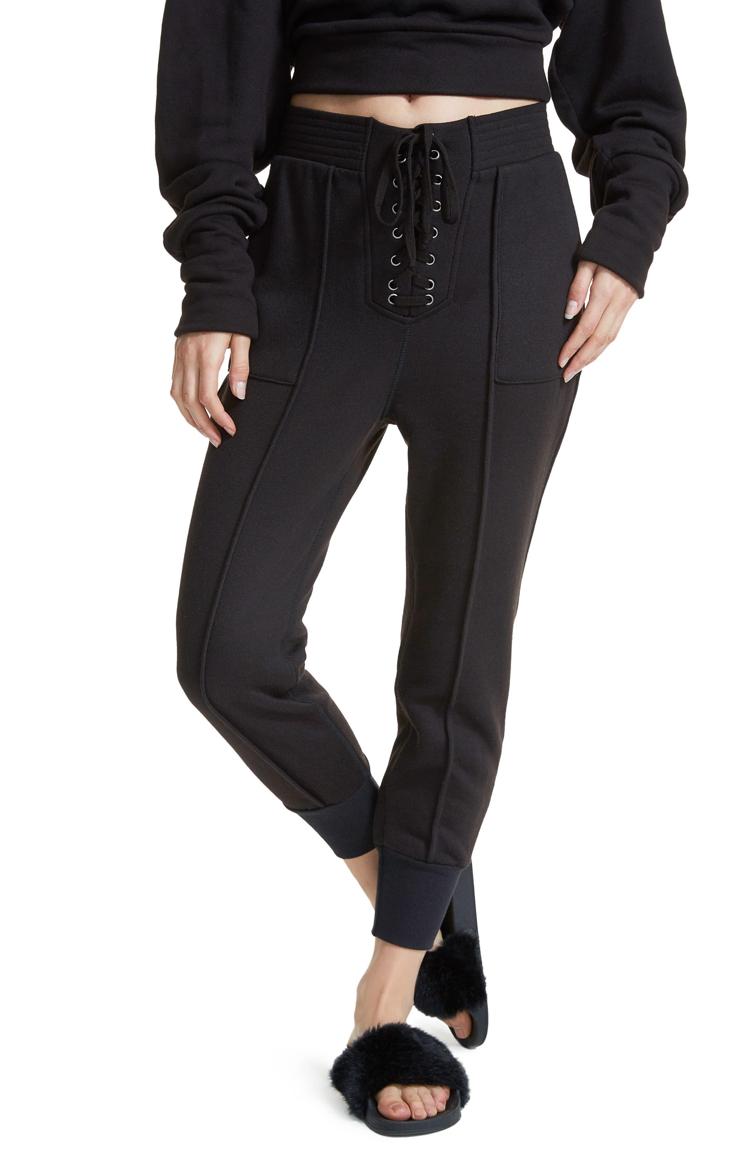 Lace-Up Jogger Pants,                         Main,                         color,