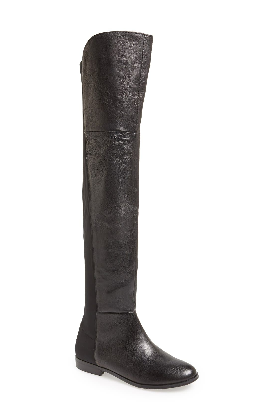 'Riley' Over The Knee Boot,                             Main thumbnail 1, color,                             001