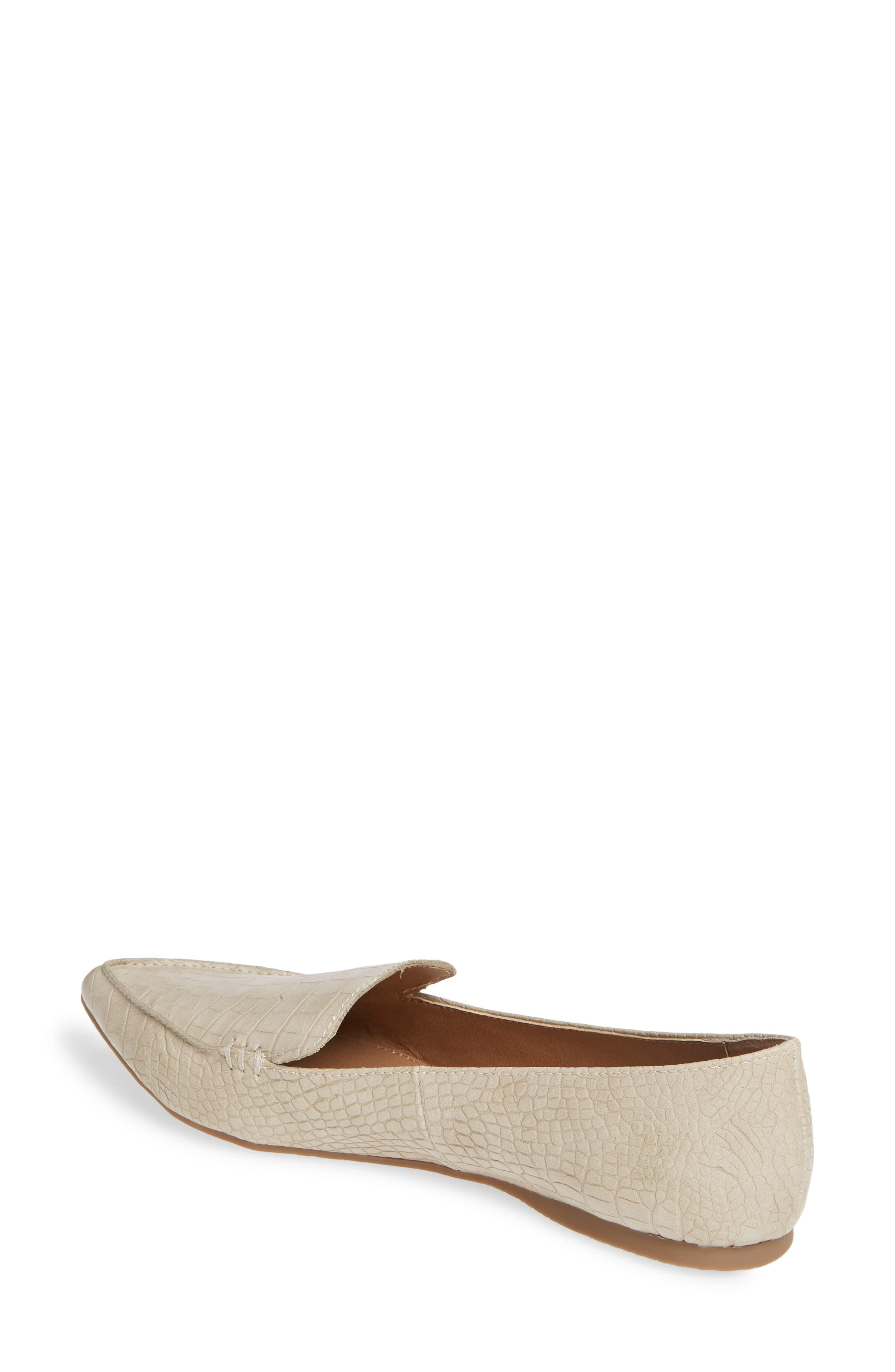 STEVE MADDEN,                             Feather Loafer Flat,                             Alternate thumbnail 2, color,                             TAUPE PRINT