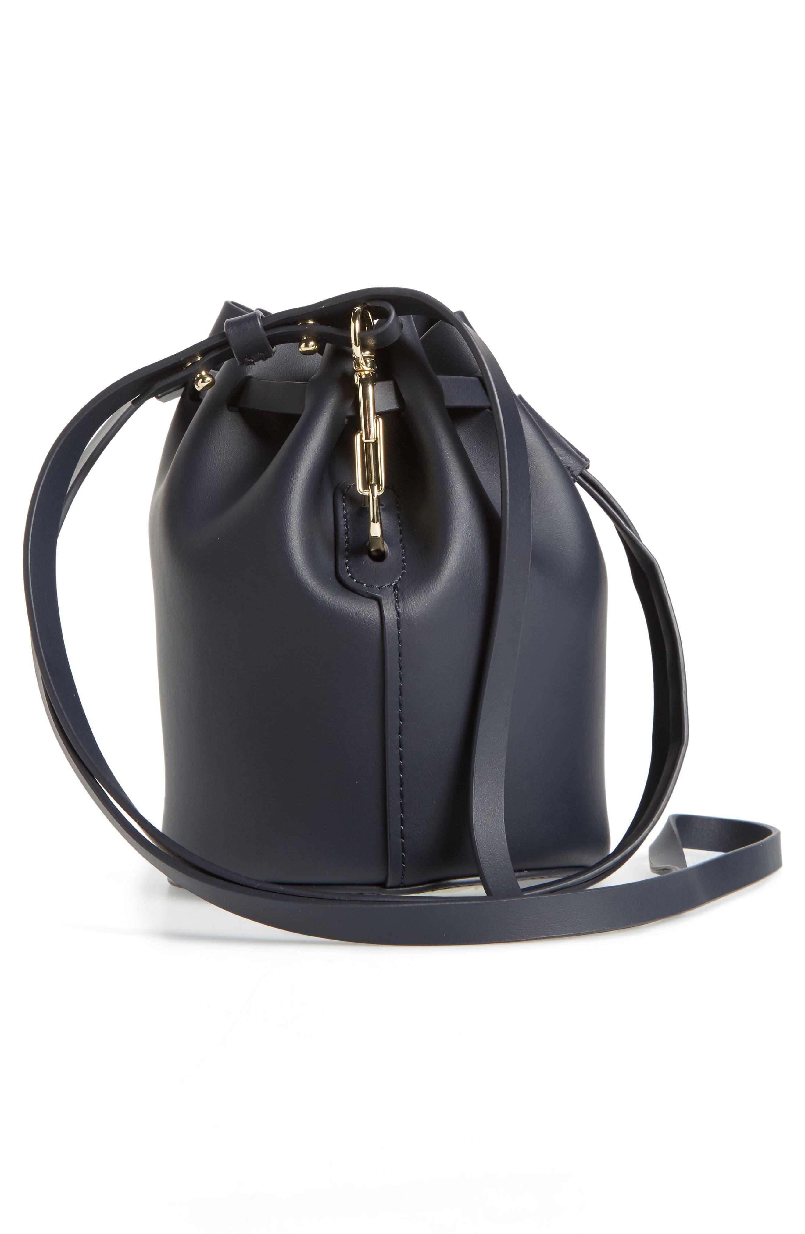 Mini Belay Calfskin Leather Drawstring Bag,                             Alternate thumbnail 14, color,