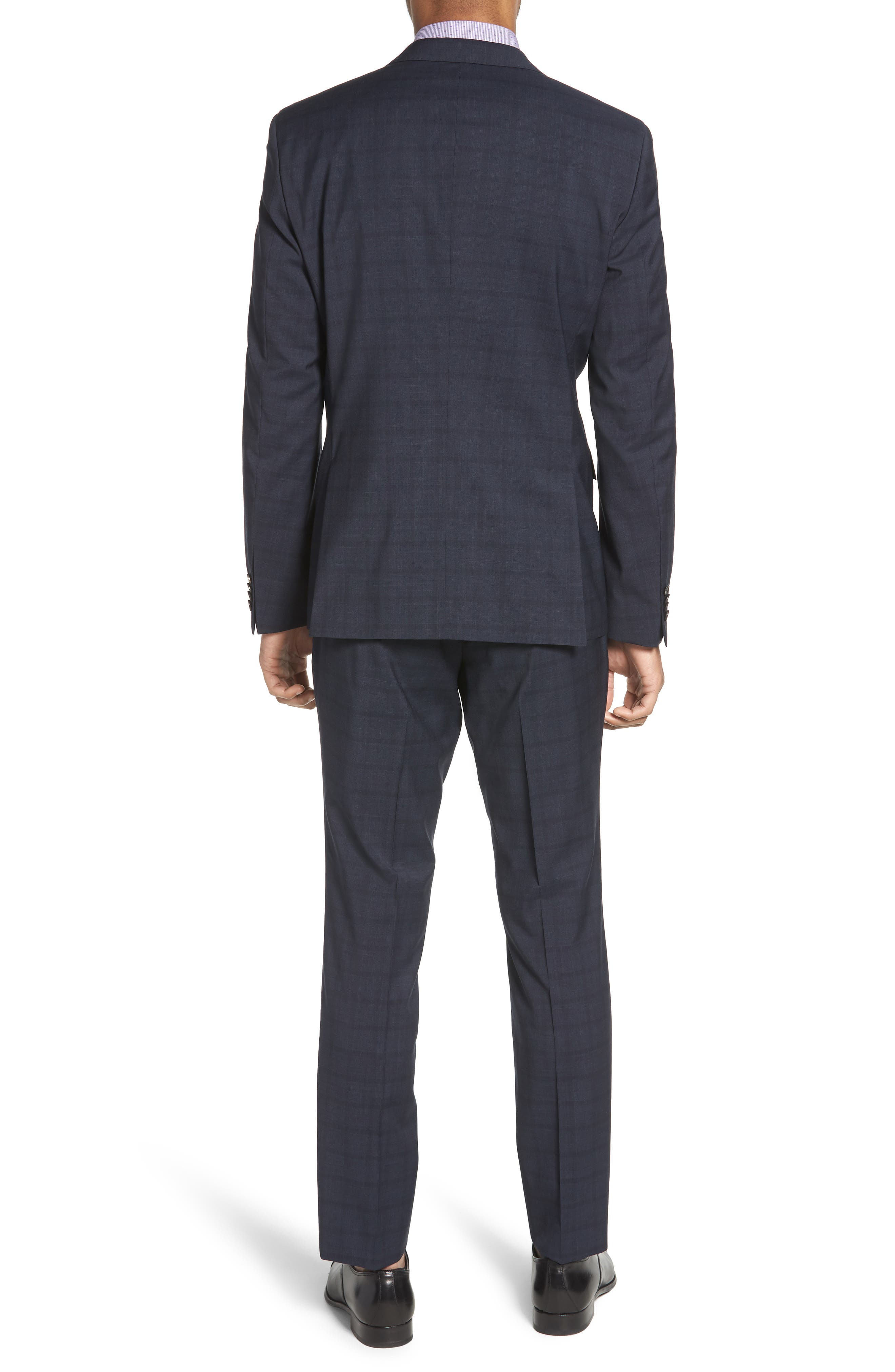 Ryan/Win Extra Trim Fit Windowpane Wool Suit,                             Alternate thumbnail 2, color,                             BLUE