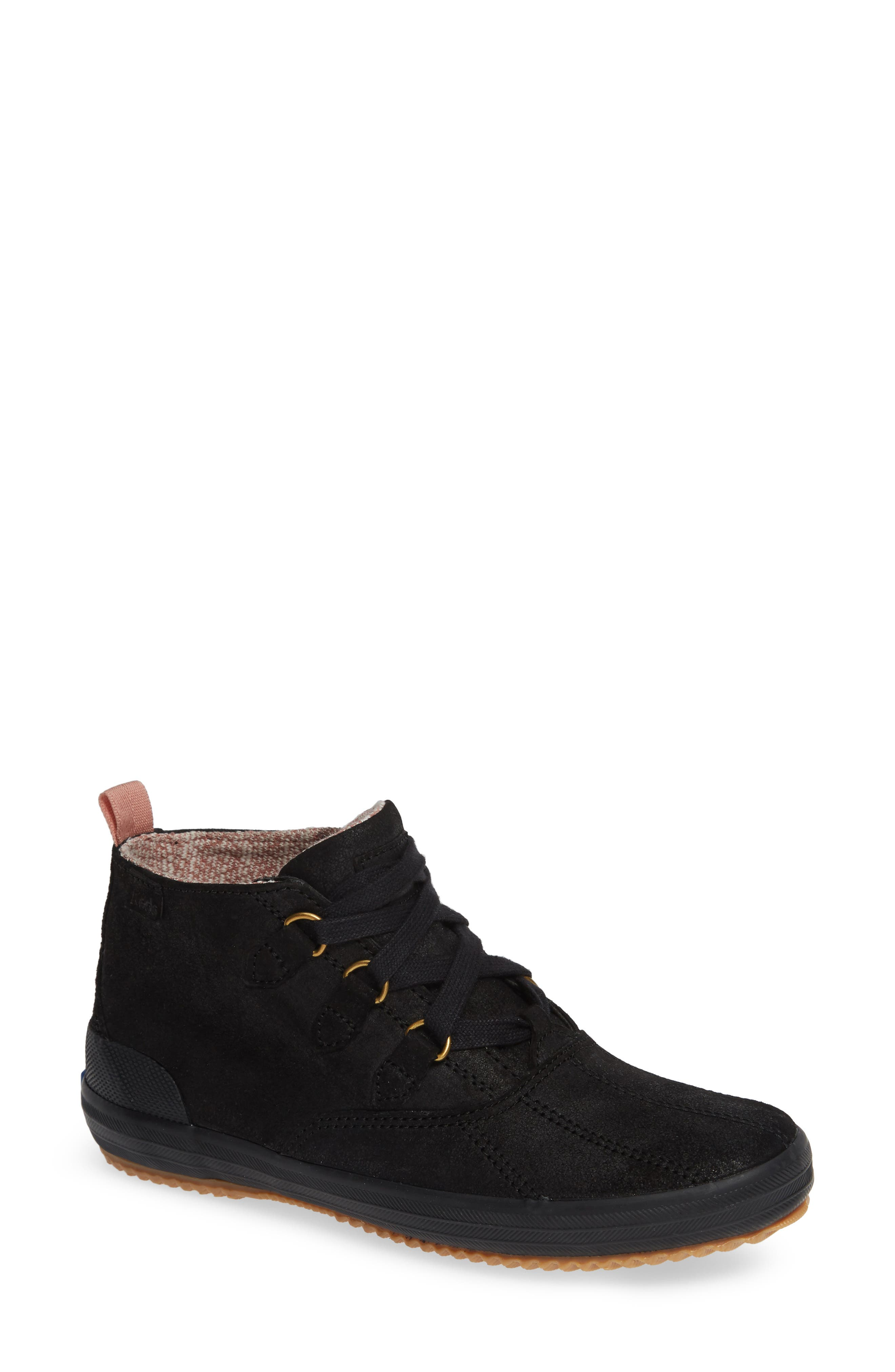 Scout Chukka Boot,                             Main thumbnail 1, color,                             BLACK SUEDE