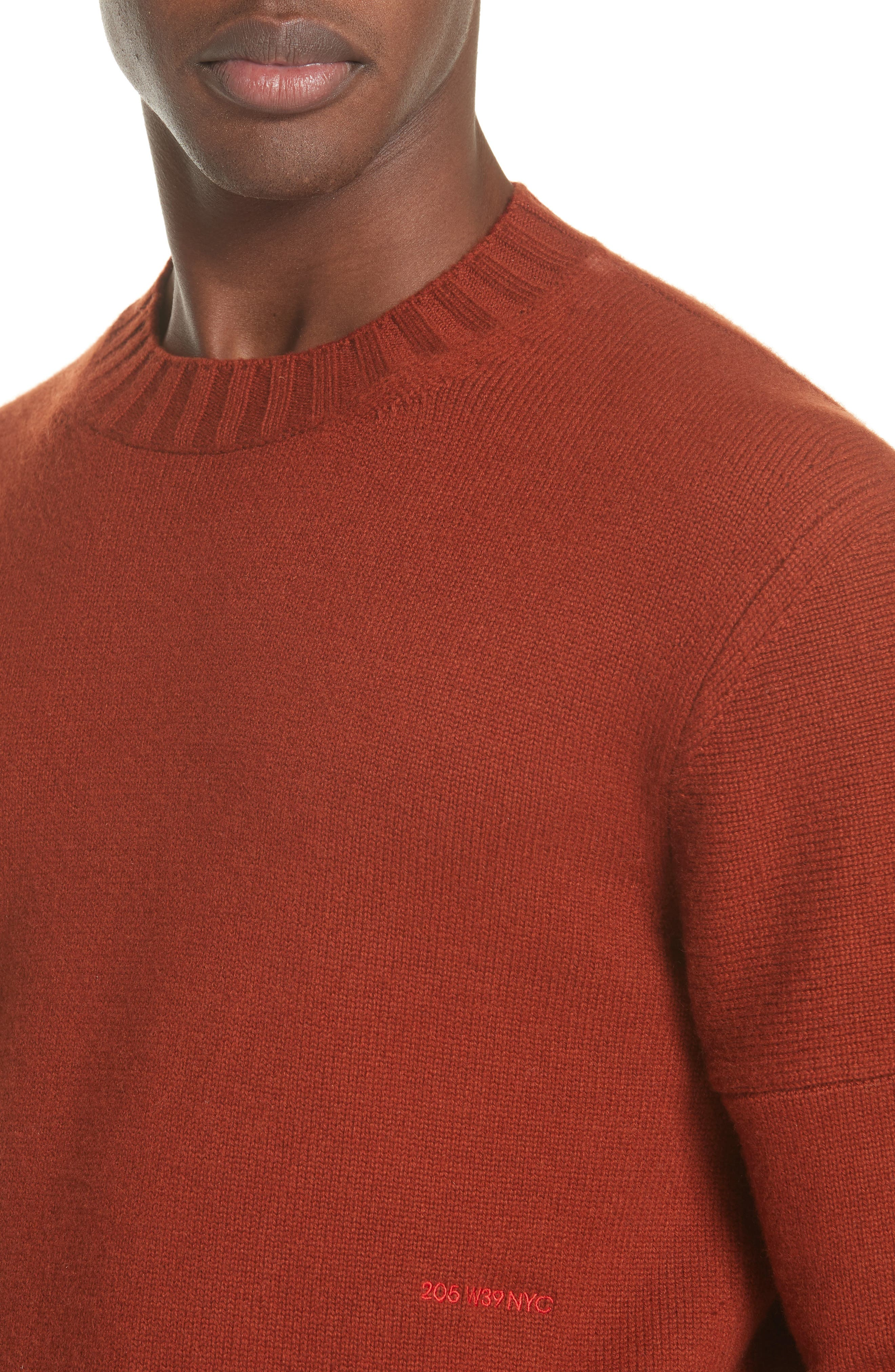 CALVIN KLEIN 205W39NYC,                             Cashmere Sweater,                             Alternate thumbnail 4, color,                             605