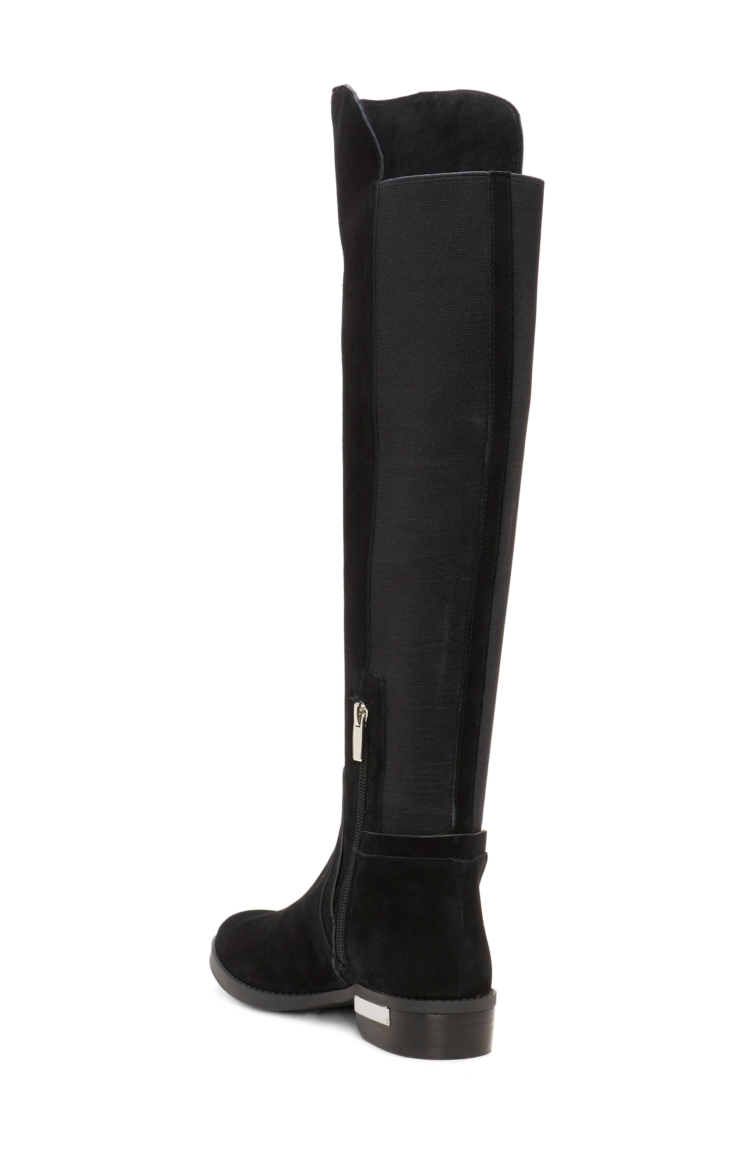Pardonal Over-the-Knee Boot,                             Alternate thumbnail 2, color,                             BLACK SUEDE