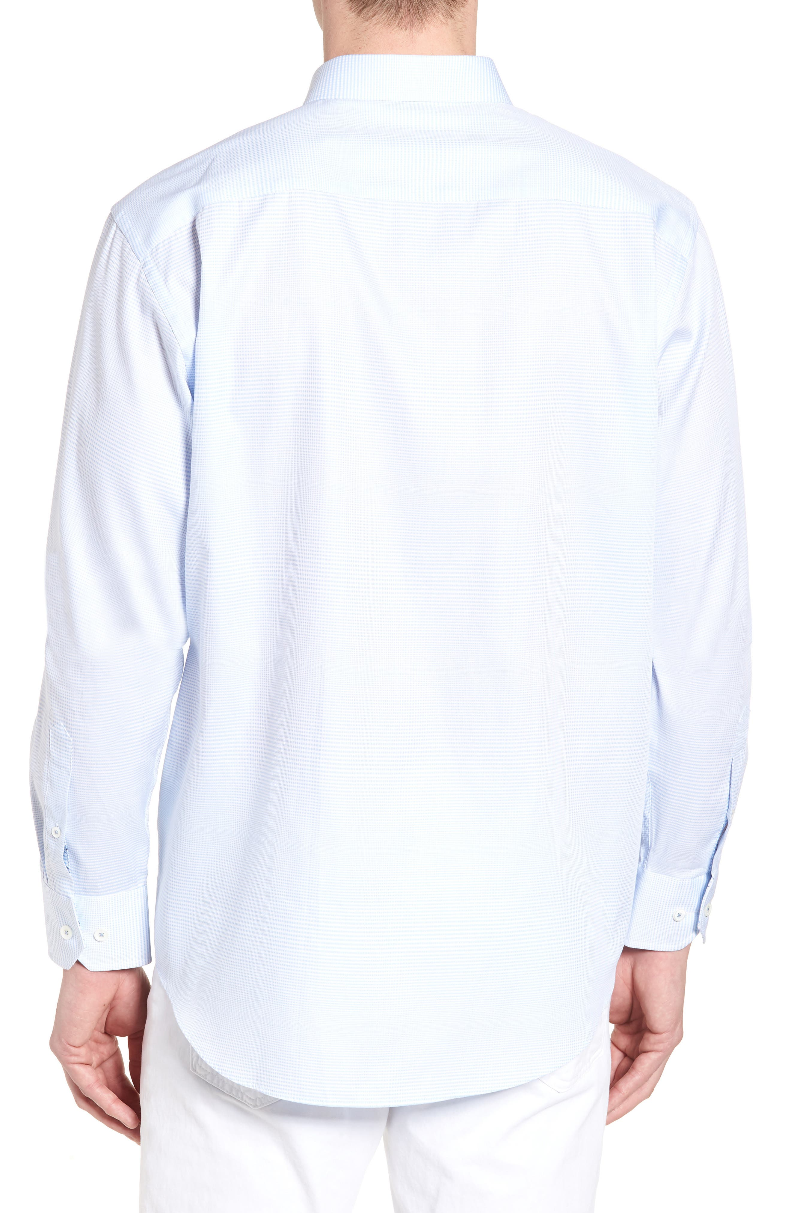 Classic Fit Microcheck Sport Shirt,                             Alternate thumbnail 2, color,                             459