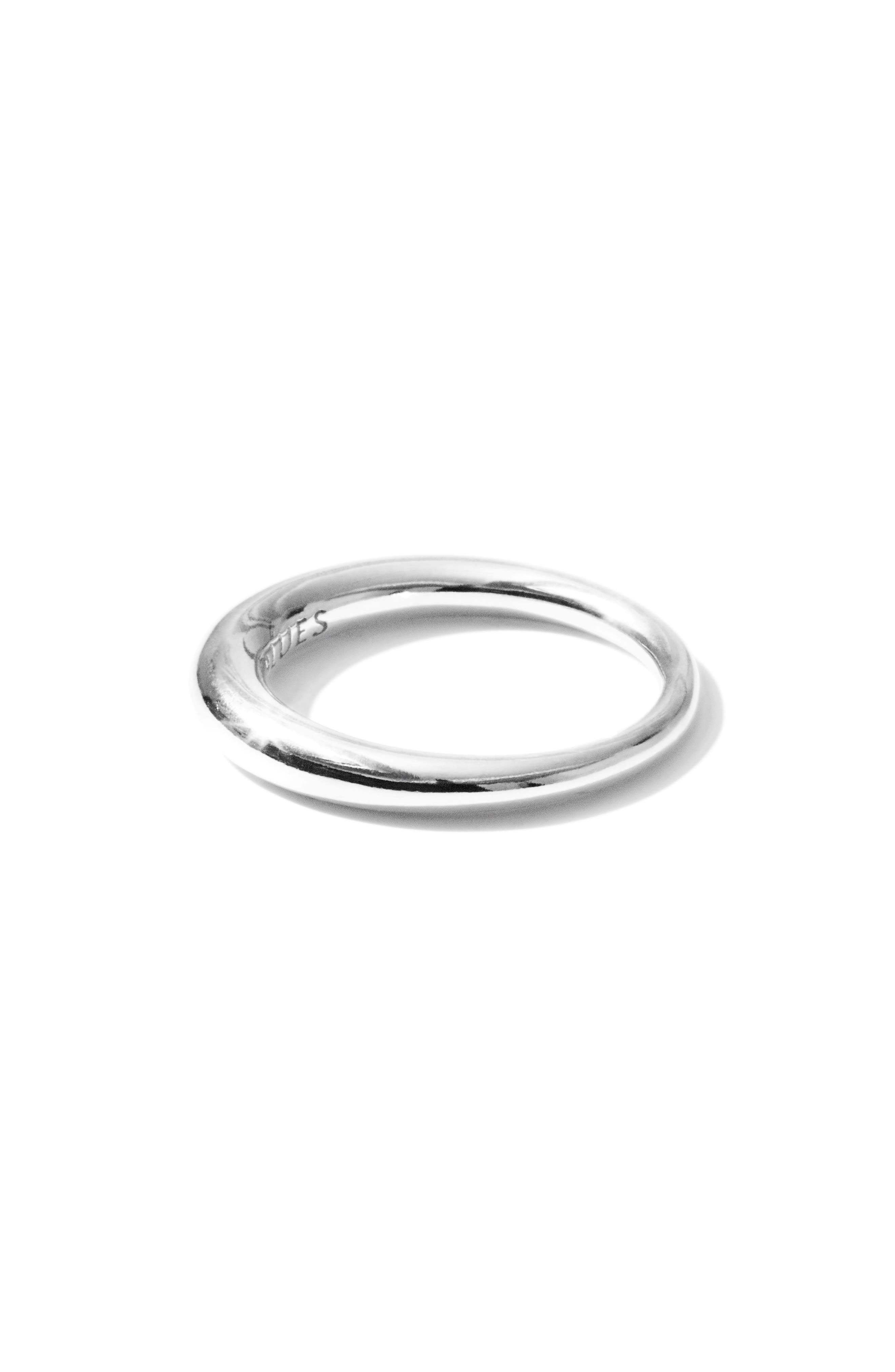 Small Snake Polished Silver Ring,                             Alternate thumbnail 4, color,                             POLISHED SILVER
